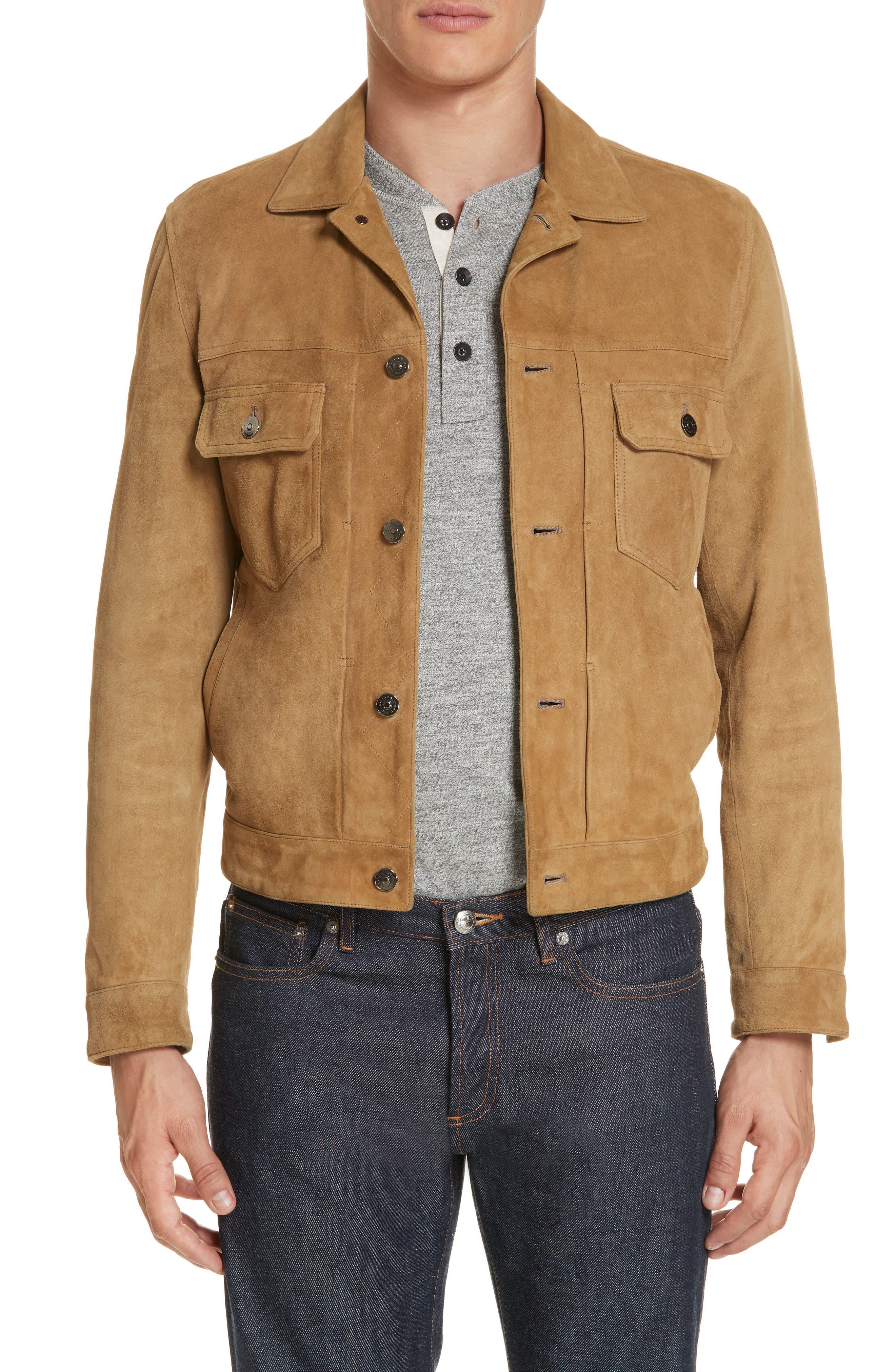 Eidos Suede Western Jacket, Brown