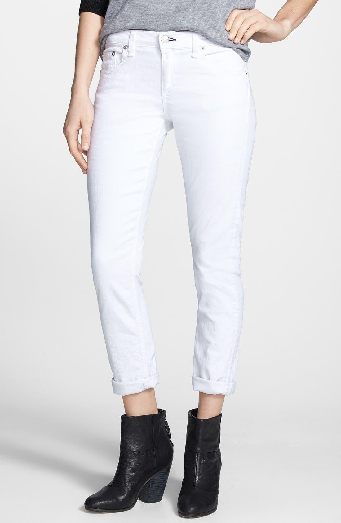 'The Dre' Skinny Jeans,                             Main thumbnail 1, color,                             BRIGHT WHITE