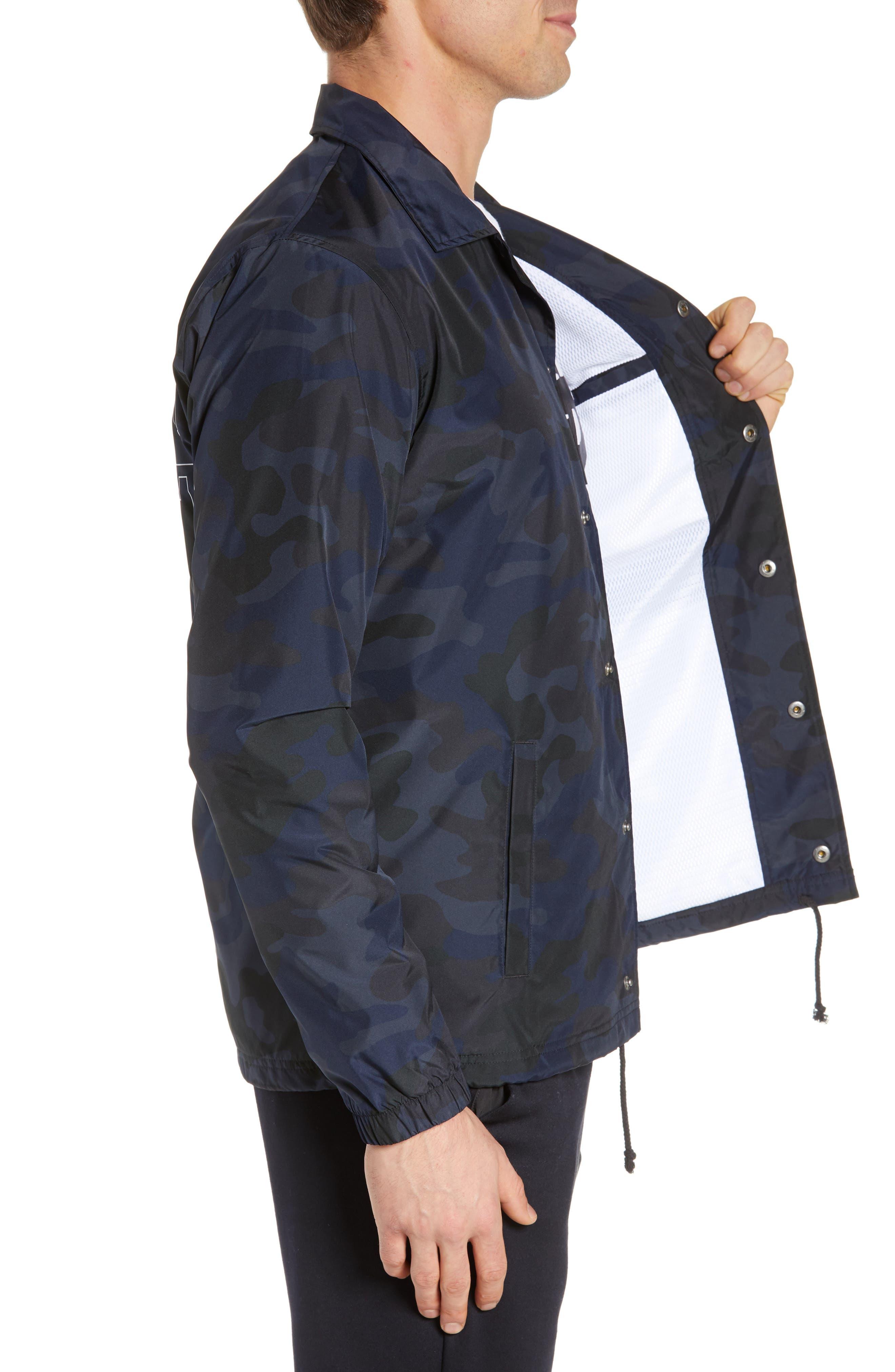 Classic Coach's Jacket,                             Alternate thumbnail 3, color,                             BLACK MULTI