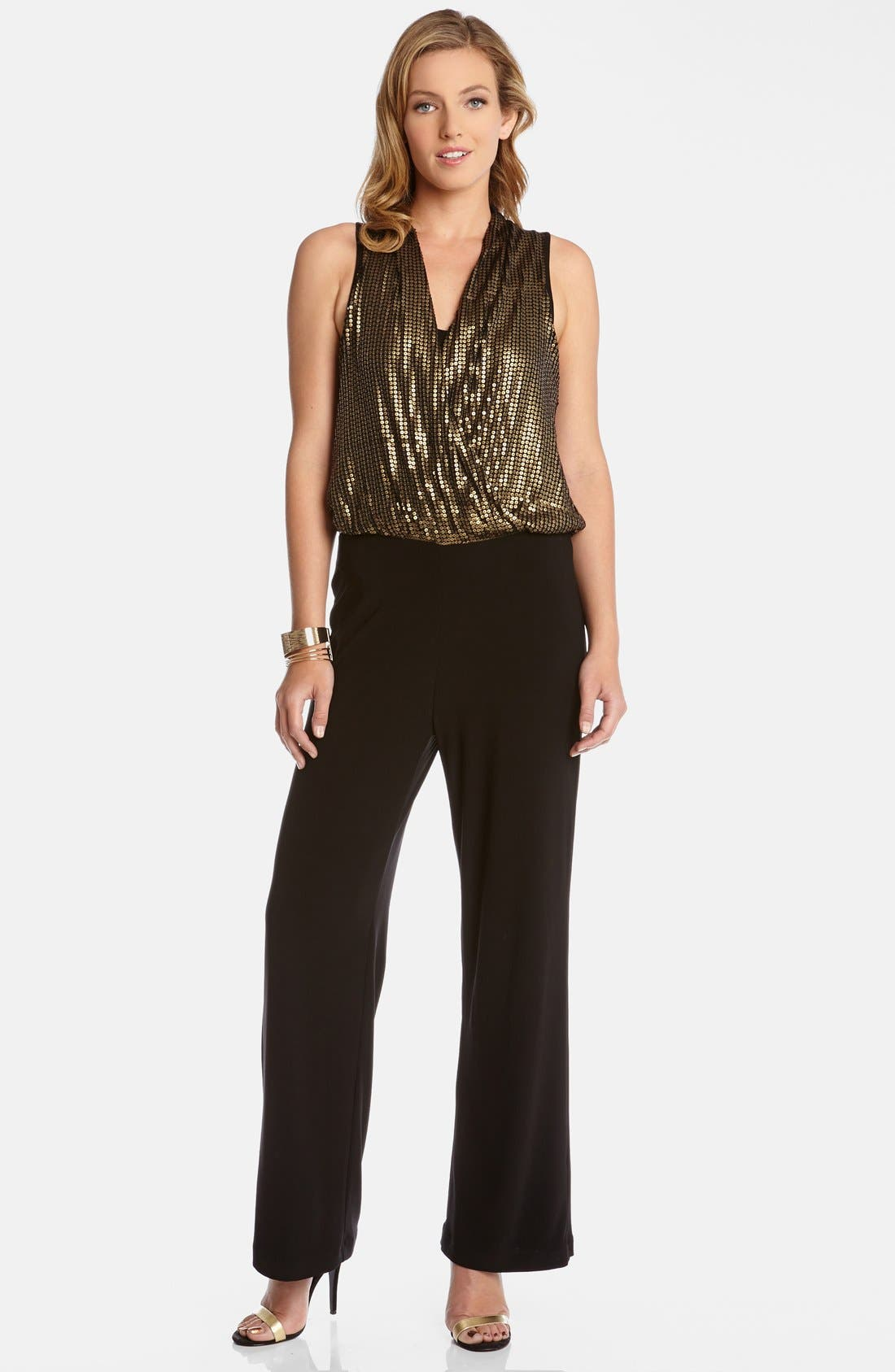 Sequin Bodice Jumpsuit, Main, color, 007