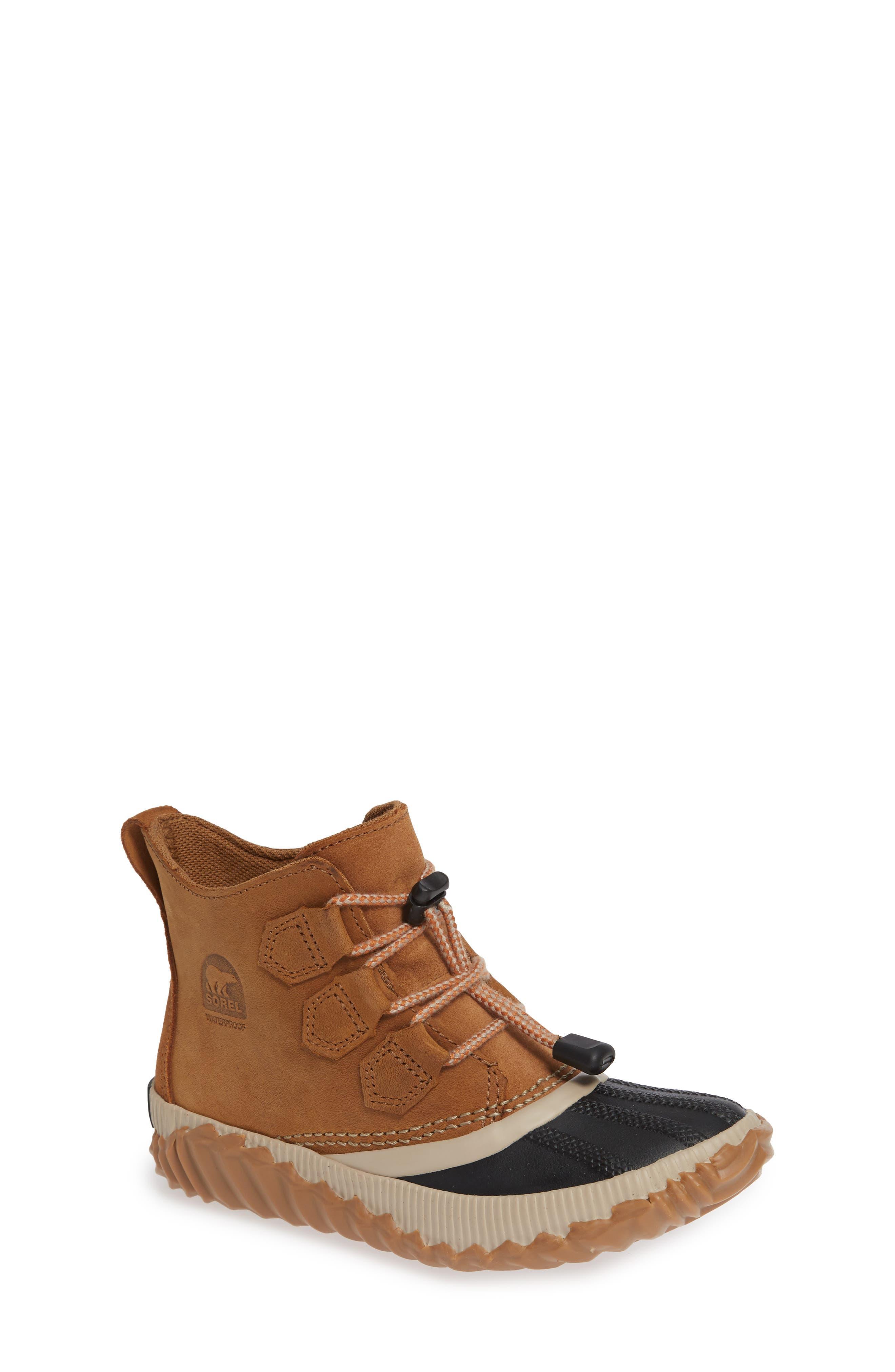 Out N About Plus Waterproof Boot,                         Main,                         color, ELK/ BLACK