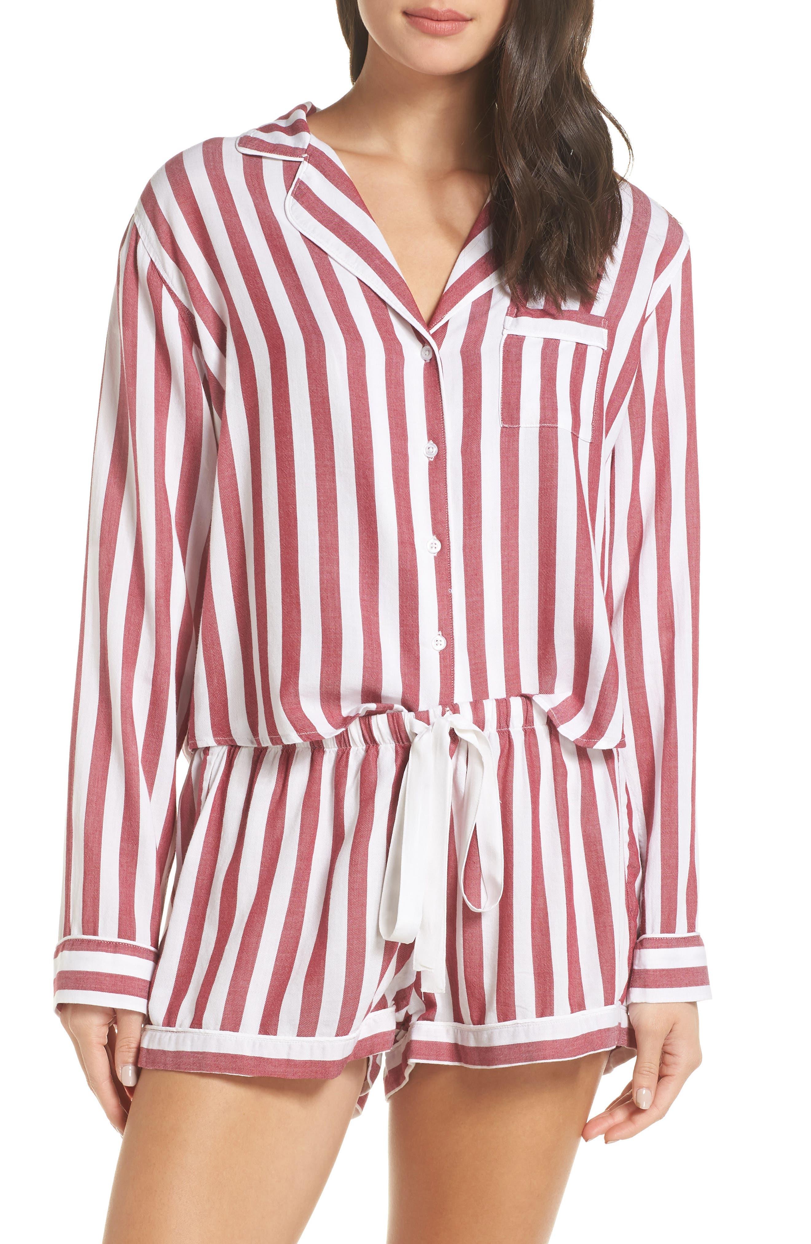 Stripe Short Pajamas,                             Alternate thumbnail 6, color,                             TOLEDO STRIPE