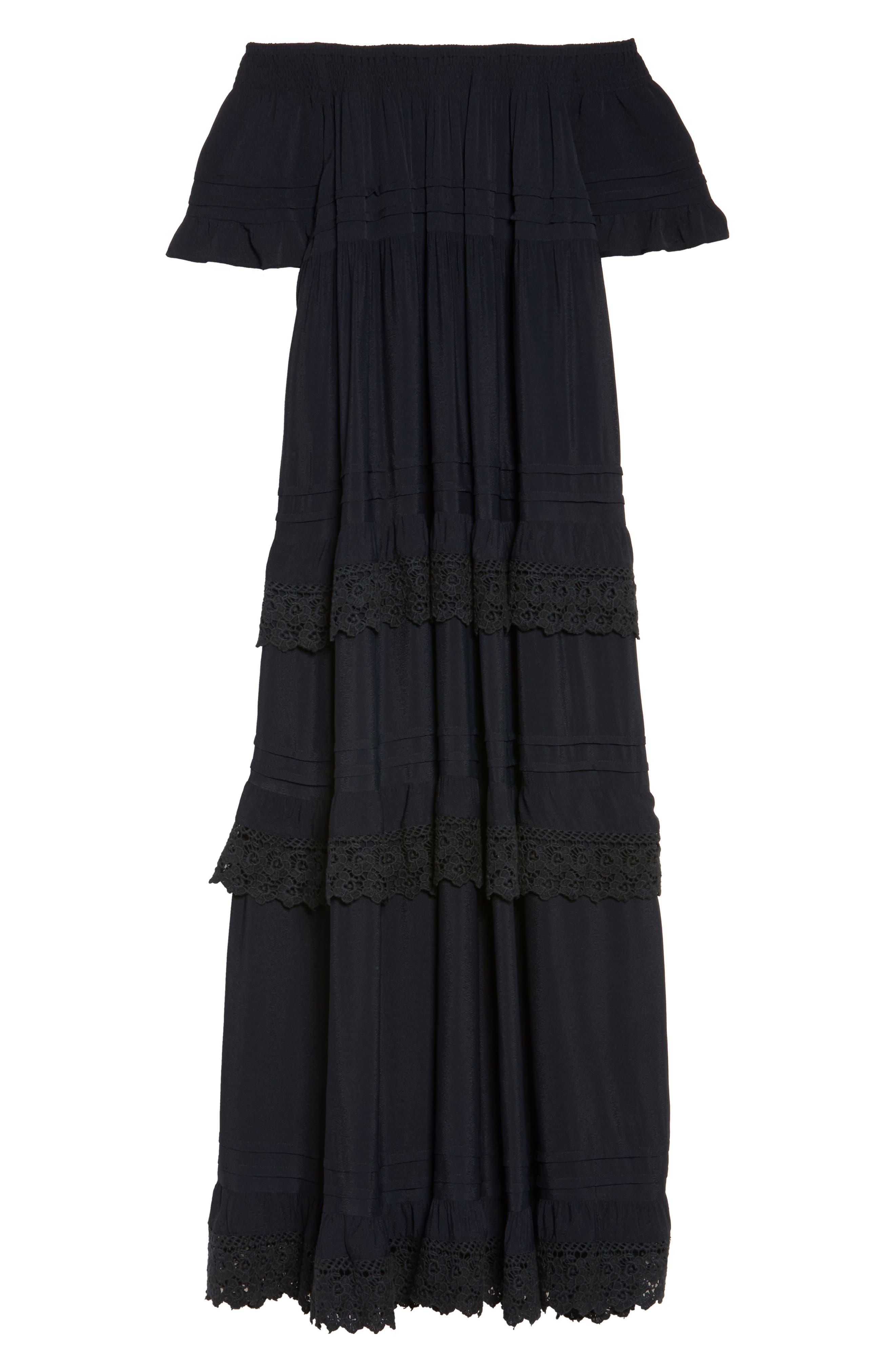 Esmerelda Off the Shoulder Cover-Up Maxi Dress,                             Alternate thumbnail 11, color,