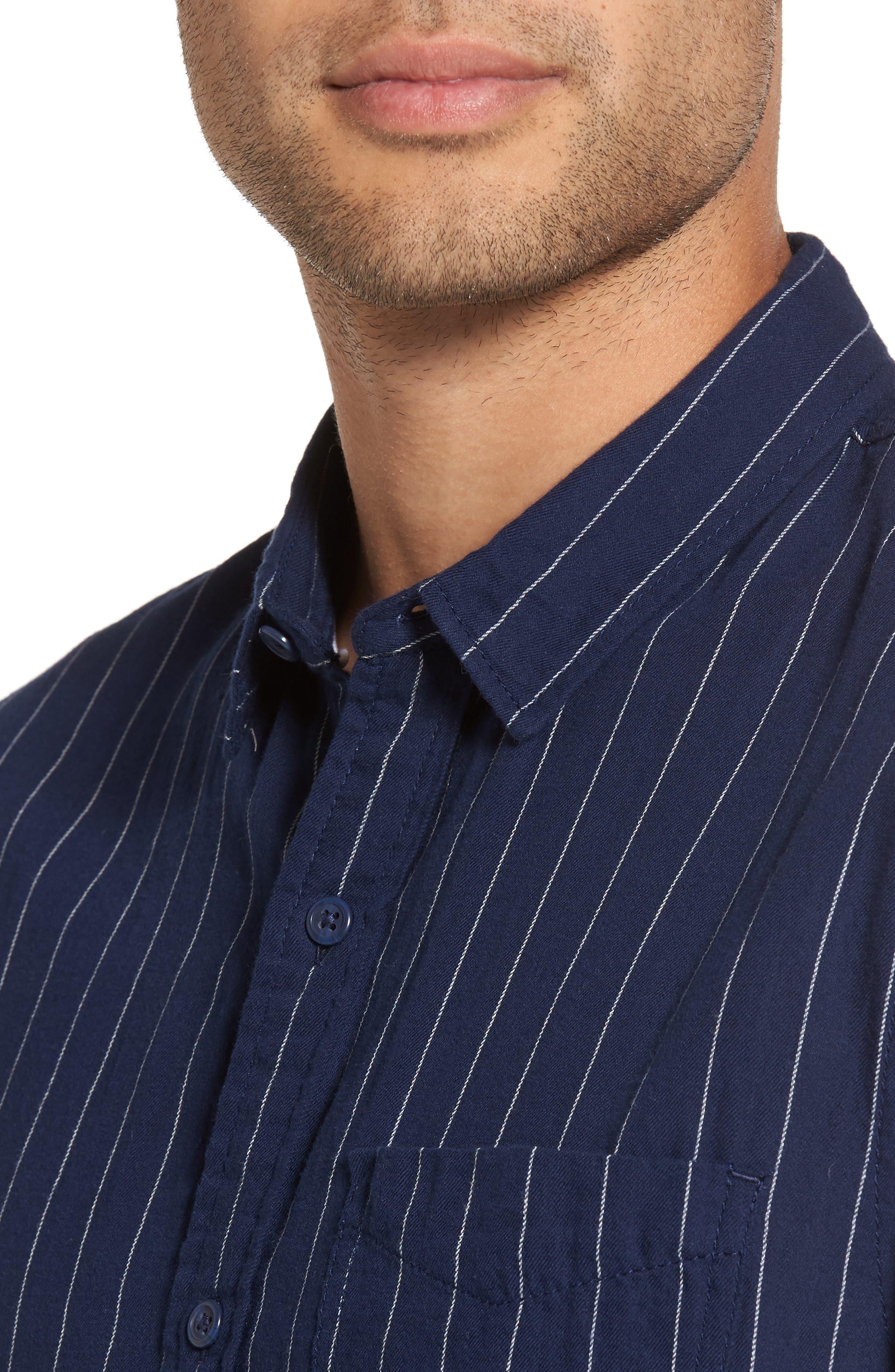 Stripe Twill Shirt,                             Alternate thumbnail 7, color,