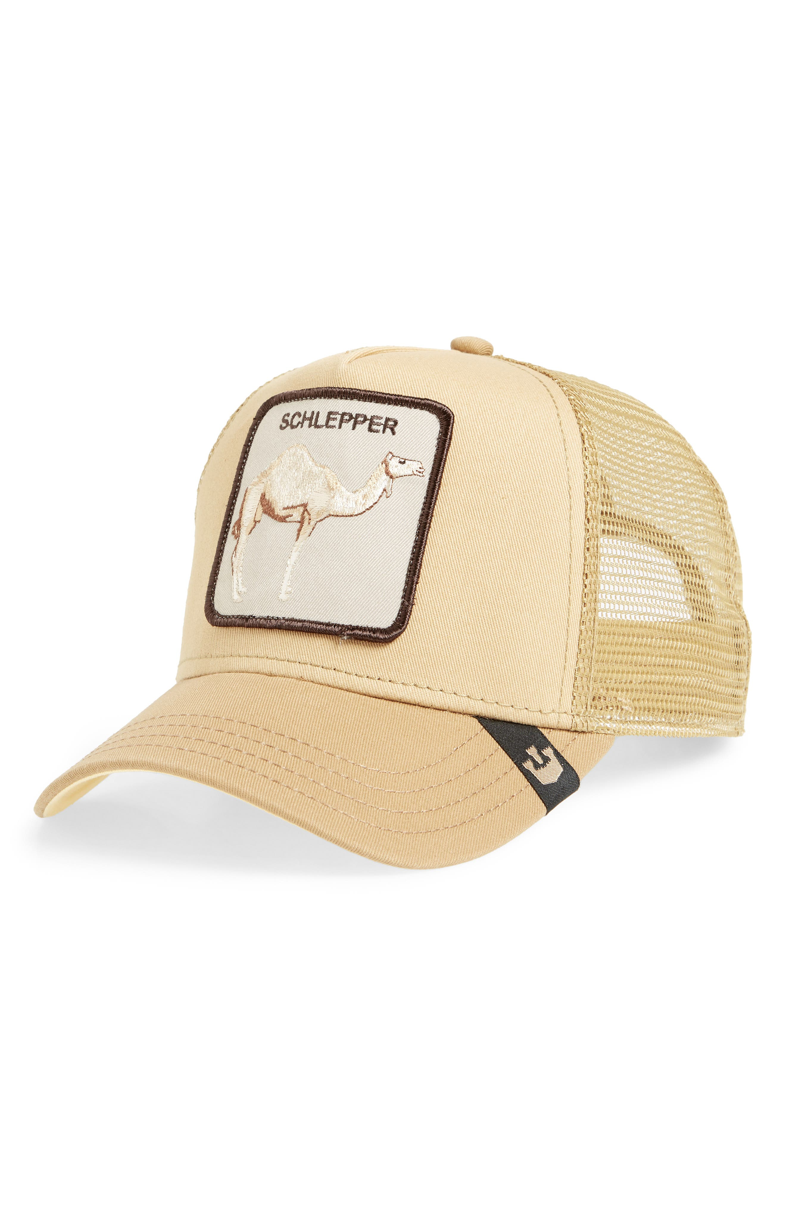 Hump Day Trucker Hat,                         Main,                         color, BROWN