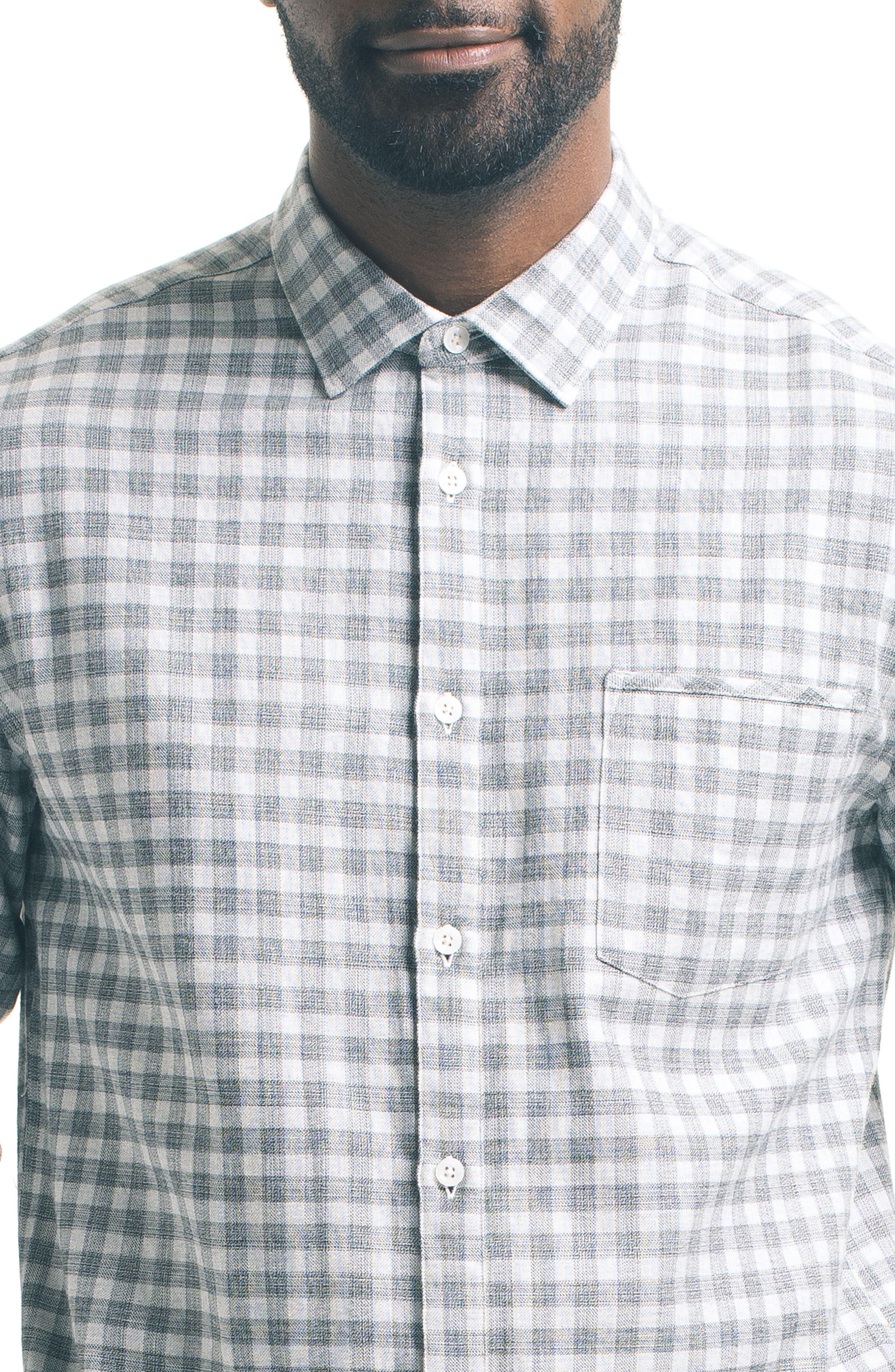 Slim Fit Check Sport Shirt,                             Alternate thumbnail 4, color,                             050
