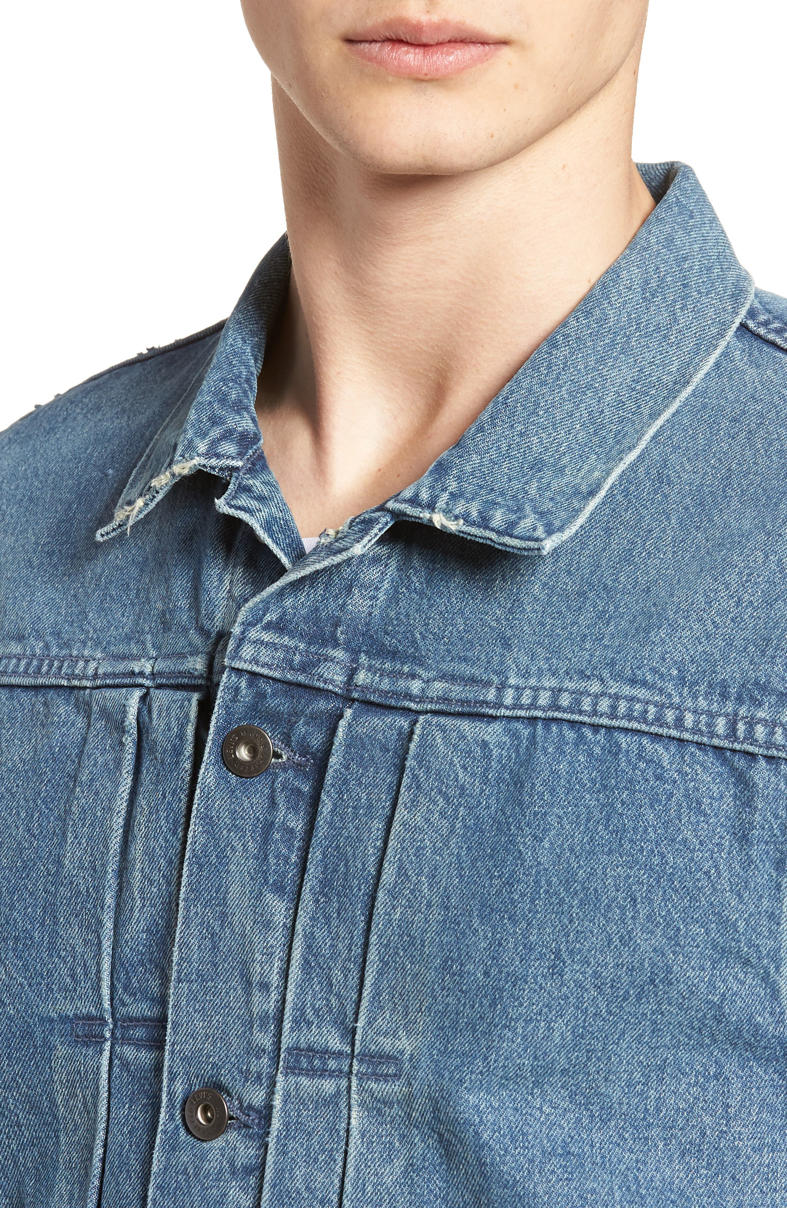 Type IV Standard Fit Trucker Denim Jacket,                             Alternate thumbnail 4, color,                             HORSESHOE