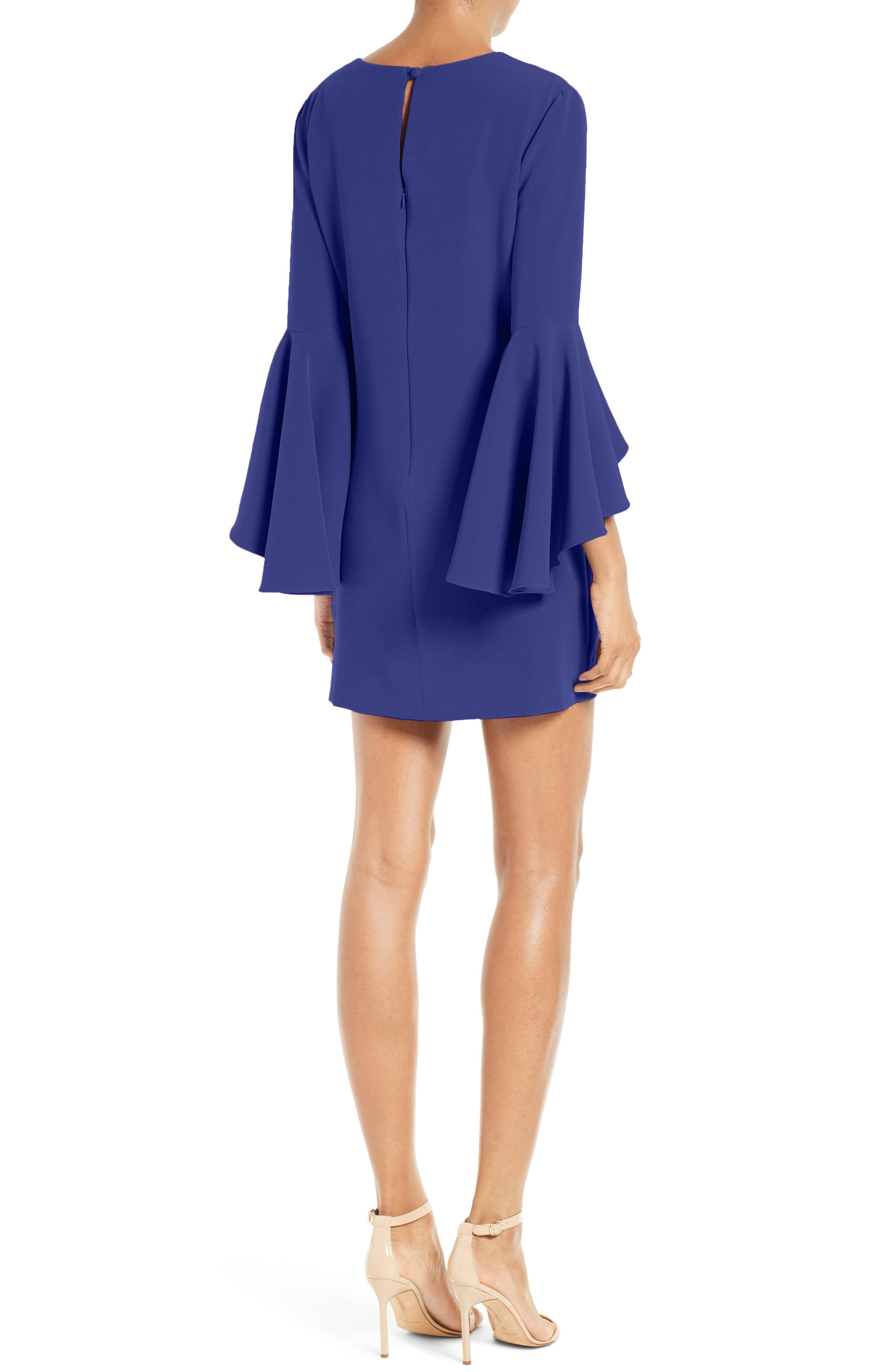 Nicole Bell Sleeve Dress,                             Alternate thumbnail 25, color,