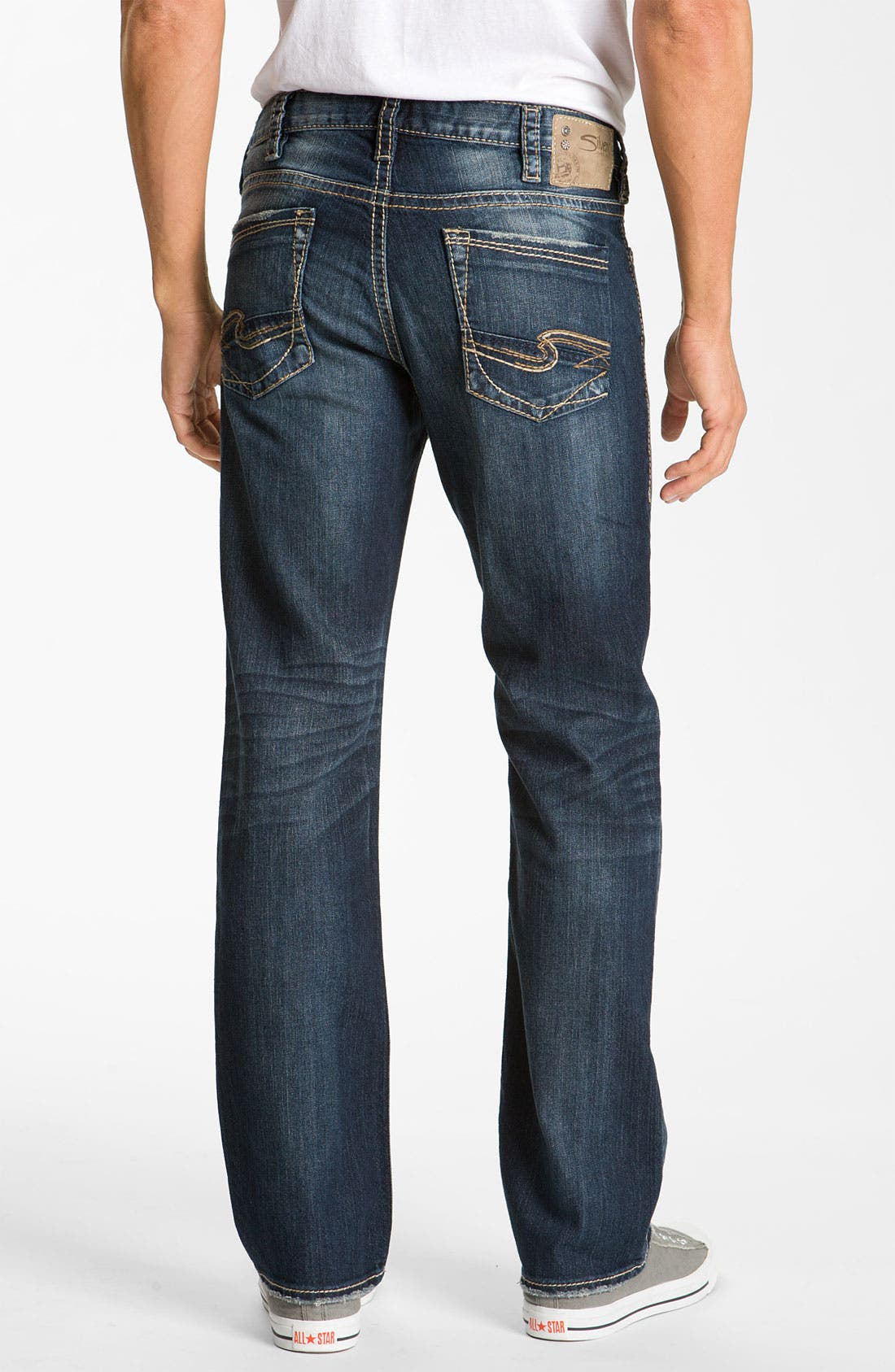 SILVER JEANS CO.,                             'Grayson Heritage' Straight Leg Jeans,                             Main thumbnail 1, color,                             401