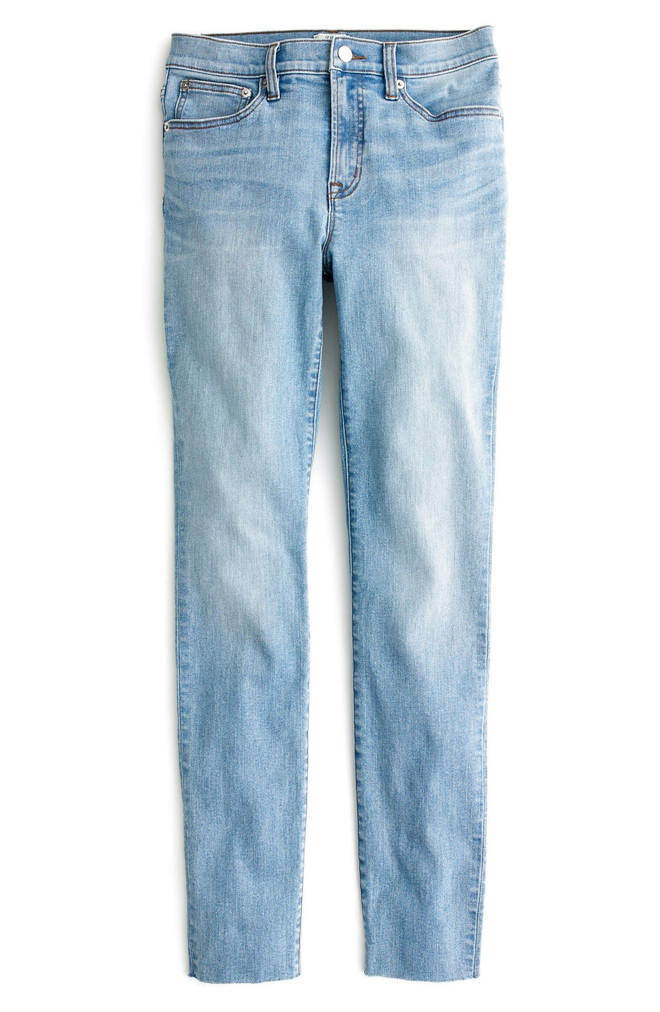 High Rise Toothpick Jeans,                             Alternate thumbnail 4, color,                             400