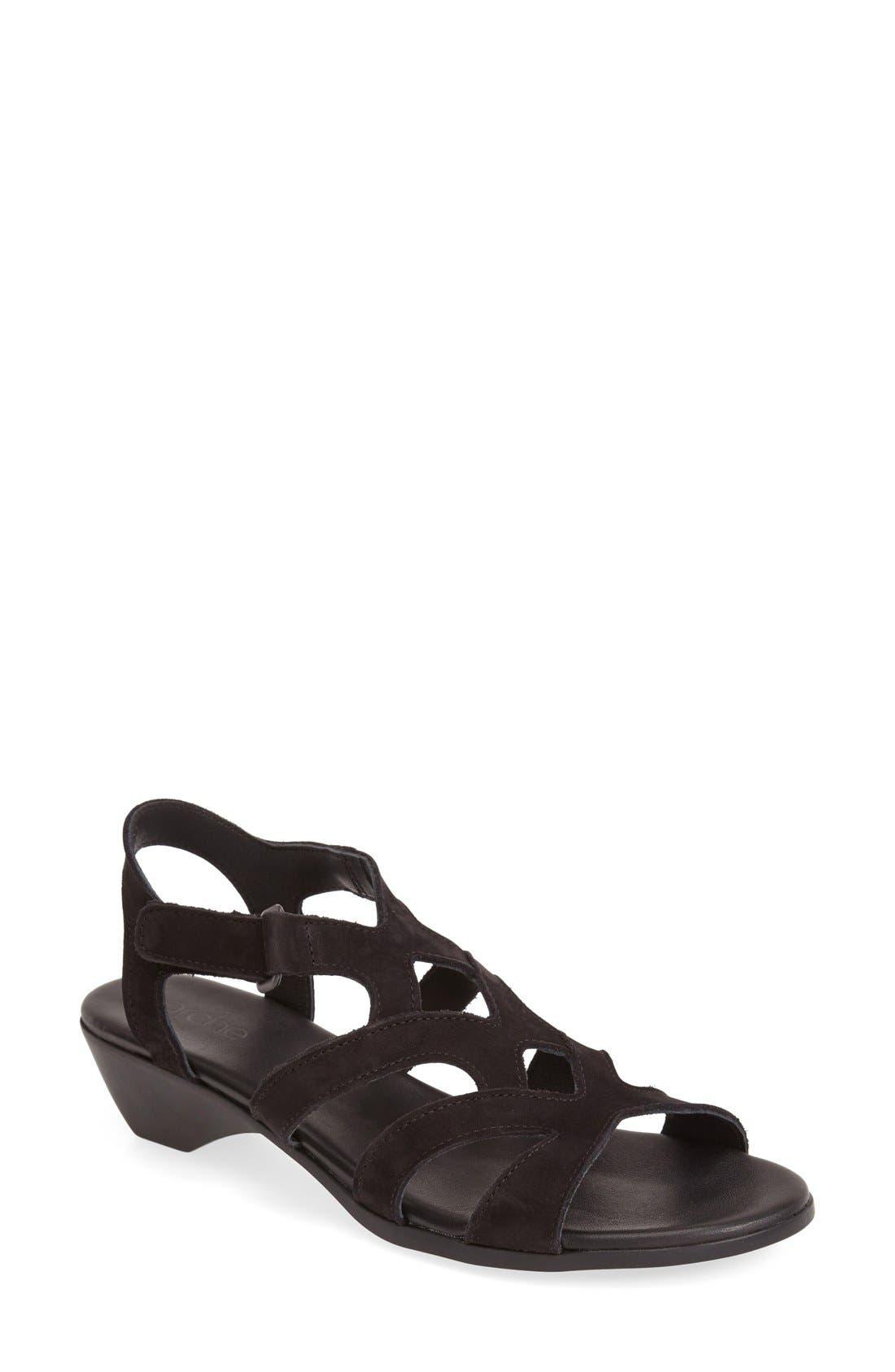 'Obela' Water Resistant Leather Sandal,                             Main thumbnail 2, color,