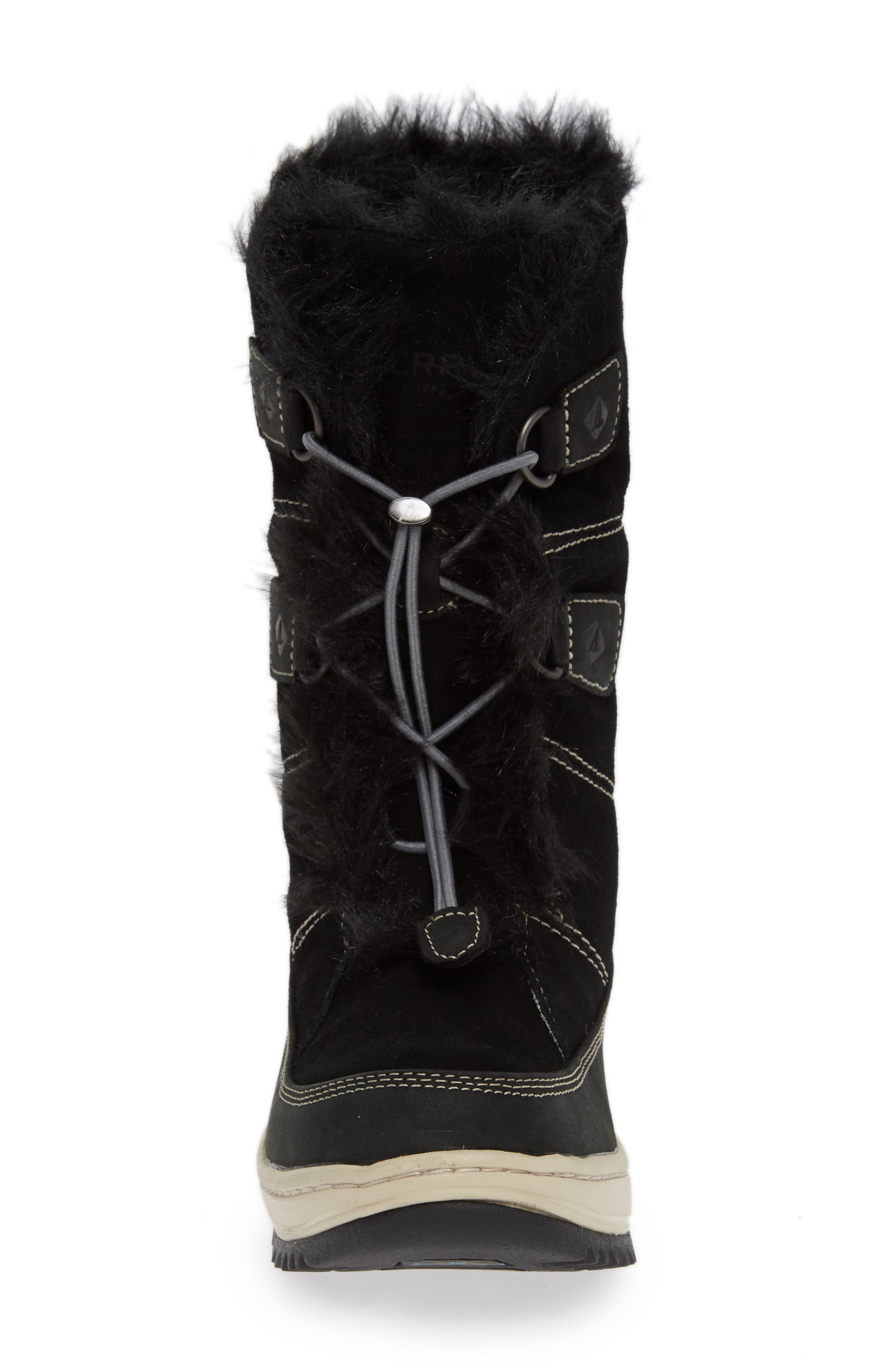 SPERRY,                             Powder Valley Vibram<sup>®</sup> Arctic Grip Waterproof Boot,                             Alternate thumbnail 4, color,                             001