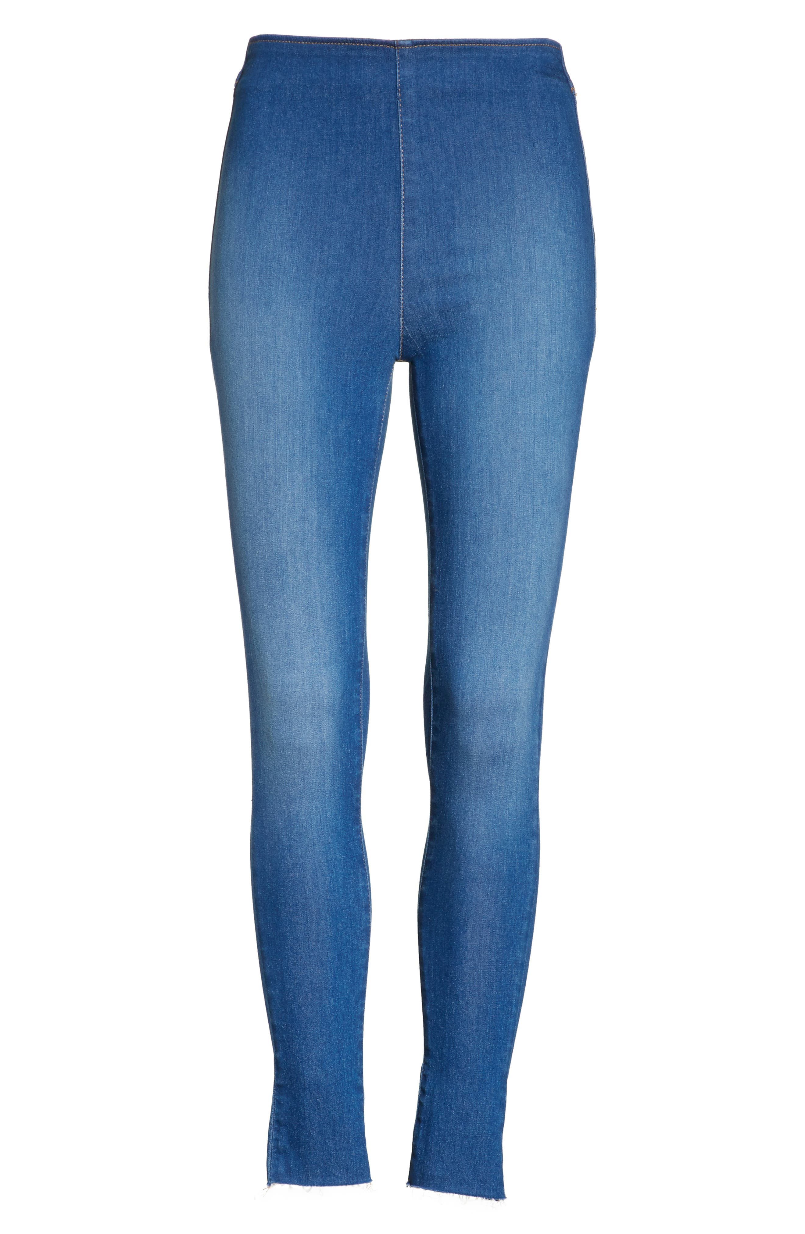 We the Free by Free People Easy Goes It Denim Leggings,                             Alternate thumbnail 6, color,                             400
