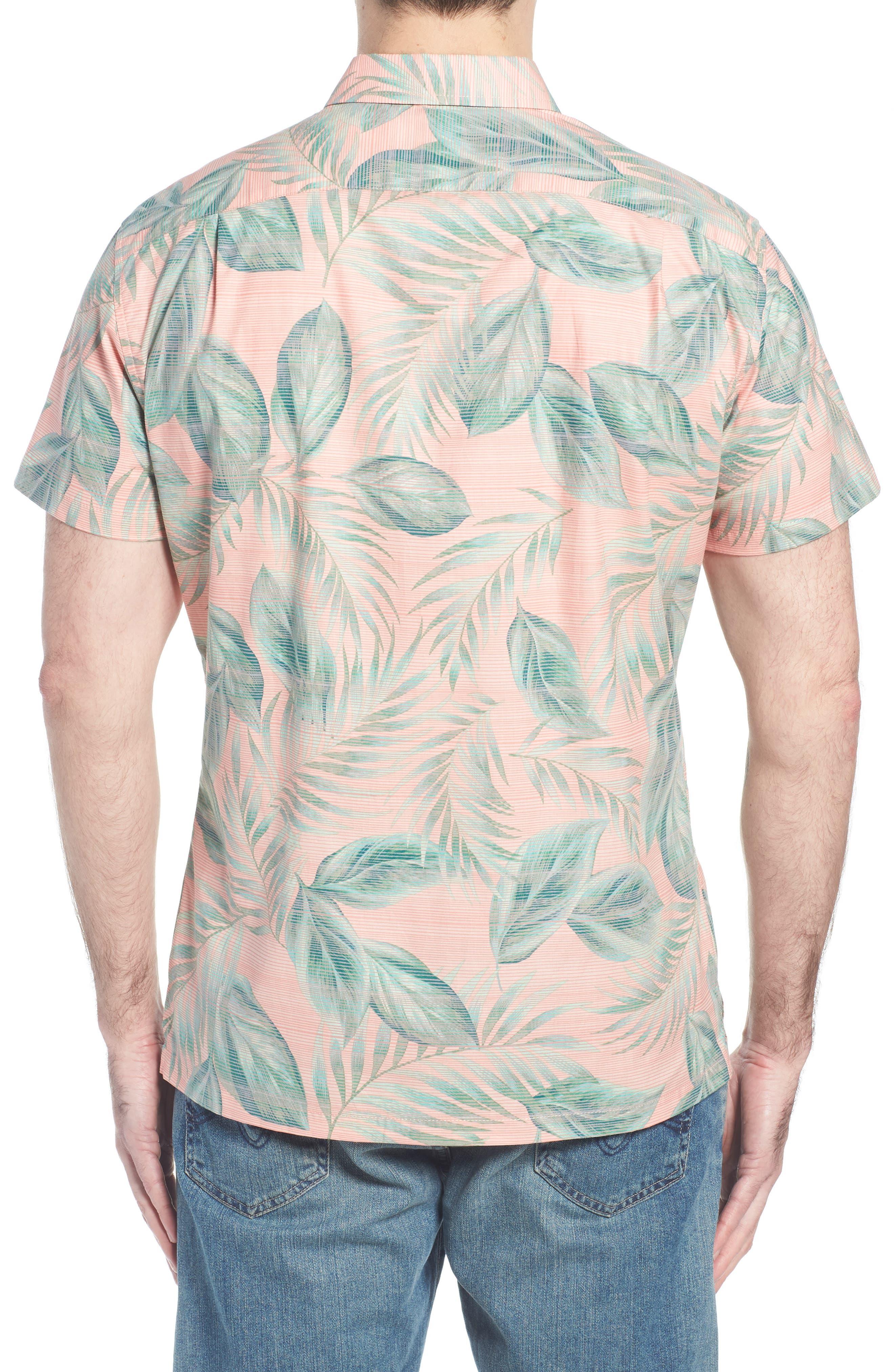 Shade Plant Trim Fit Camp Shirt,                             Alternate thumbnail 2, color,                             BISQUE