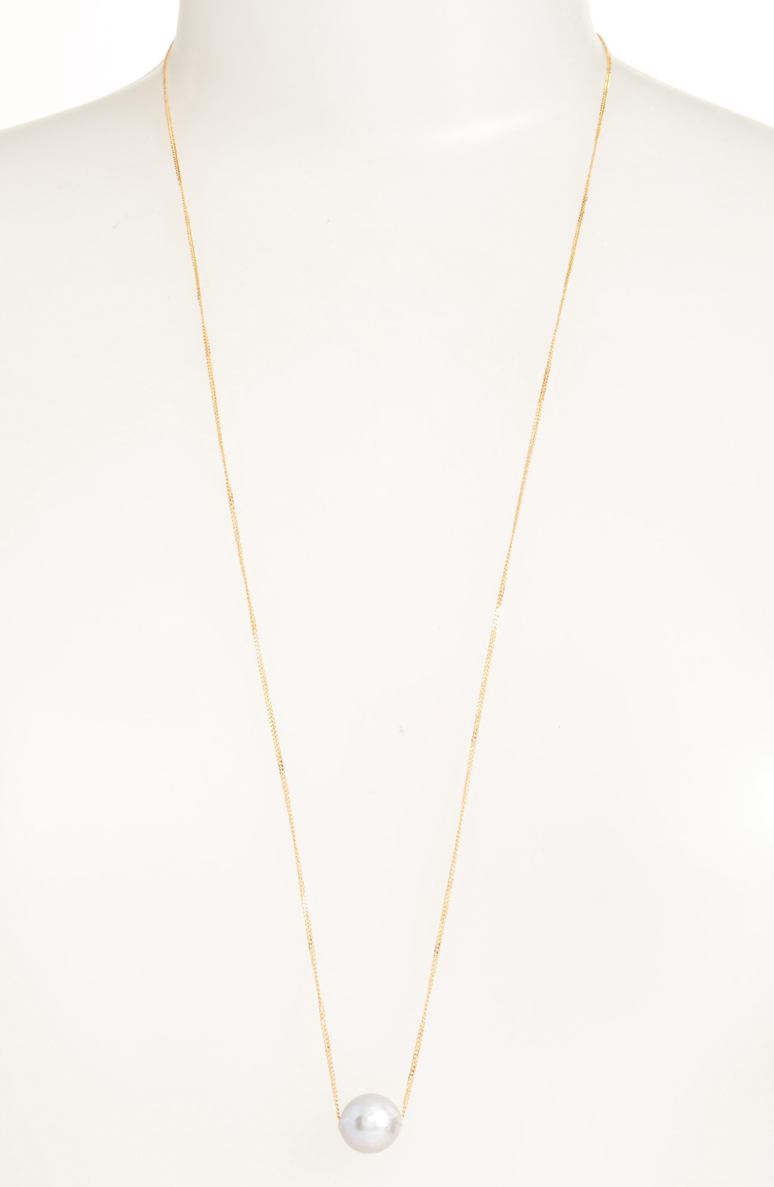 Long Pearl Pendant Necklace,                             Main thumbnail 1, color,                             051
