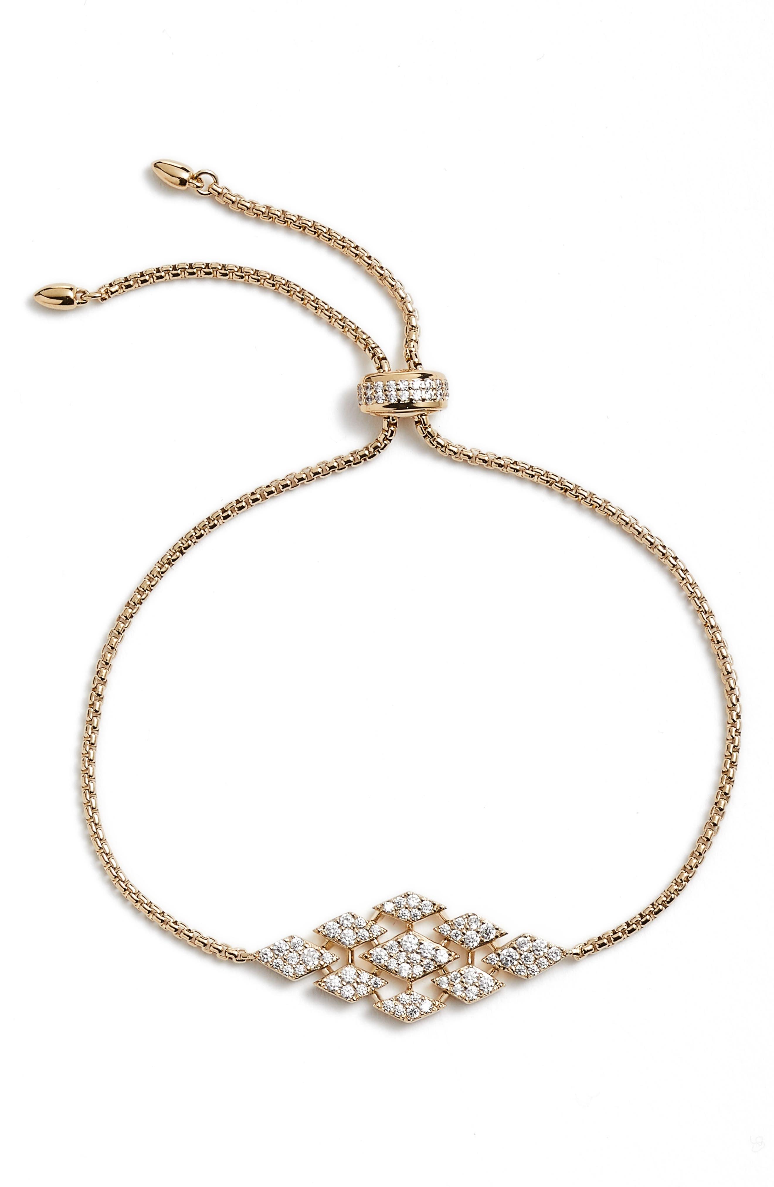 NADRI Luminous Bolo Bracelet in Brown