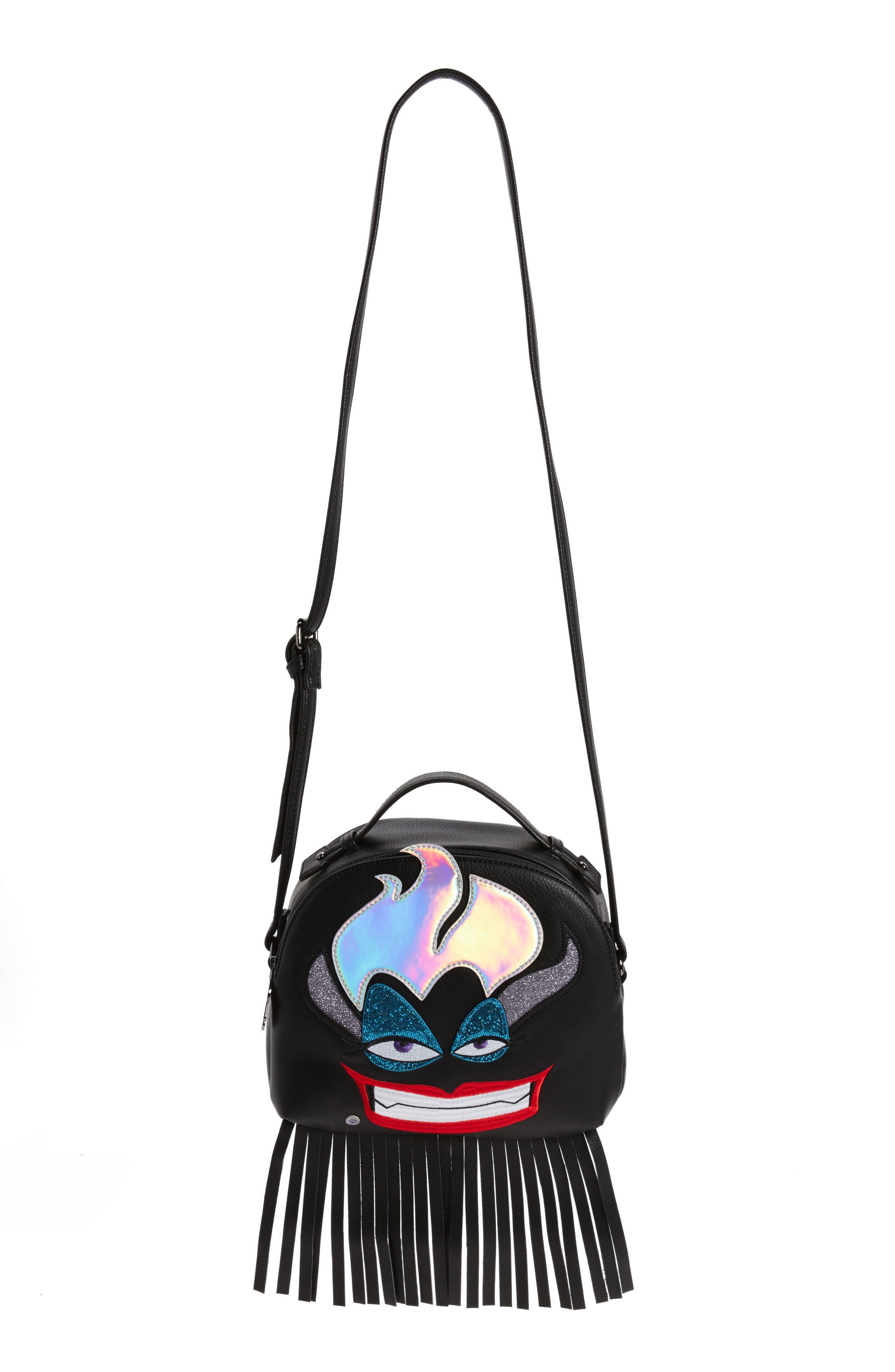 DANIELLE NICOLE x Disney<sup>®</sup> Ursula Faux Leather Crossbody Bag, Main, color, 001