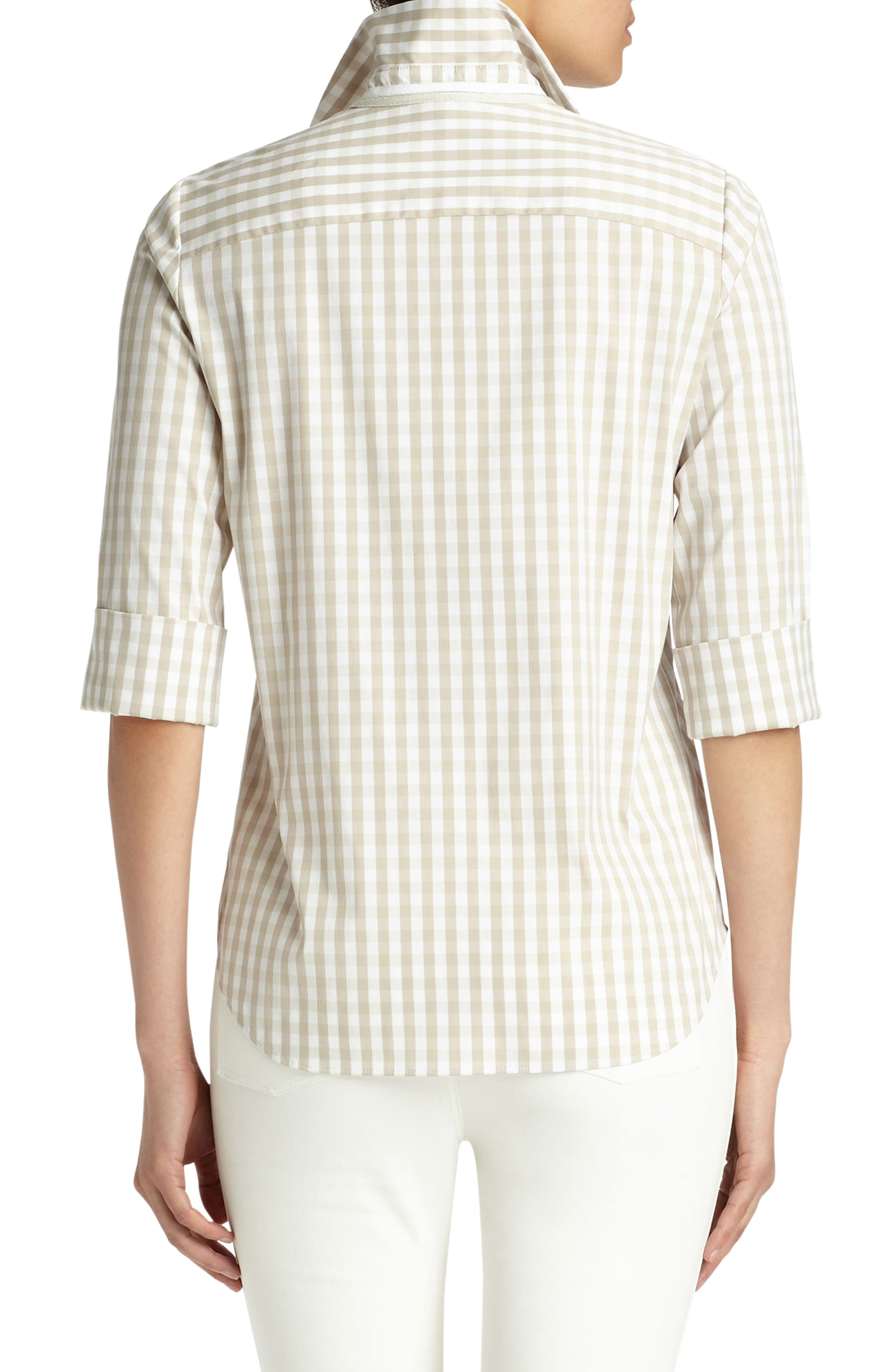 Paget Gingham Blouse,                             Alternate thumbnail 2, color,                             200