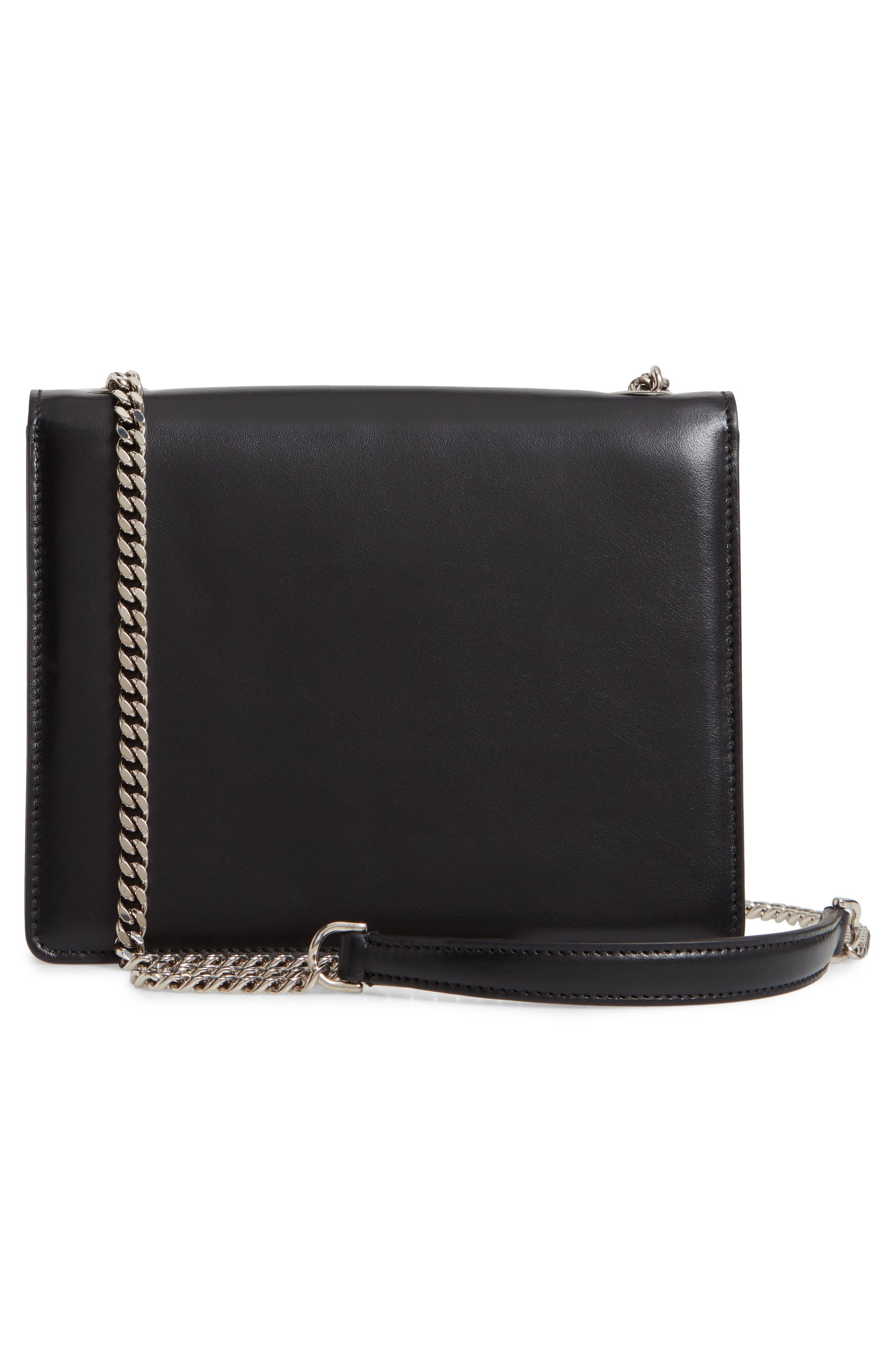 Small Thalia Leather Shoulder Bag,                             Alternate thumbnail 3, color,                             WHITE