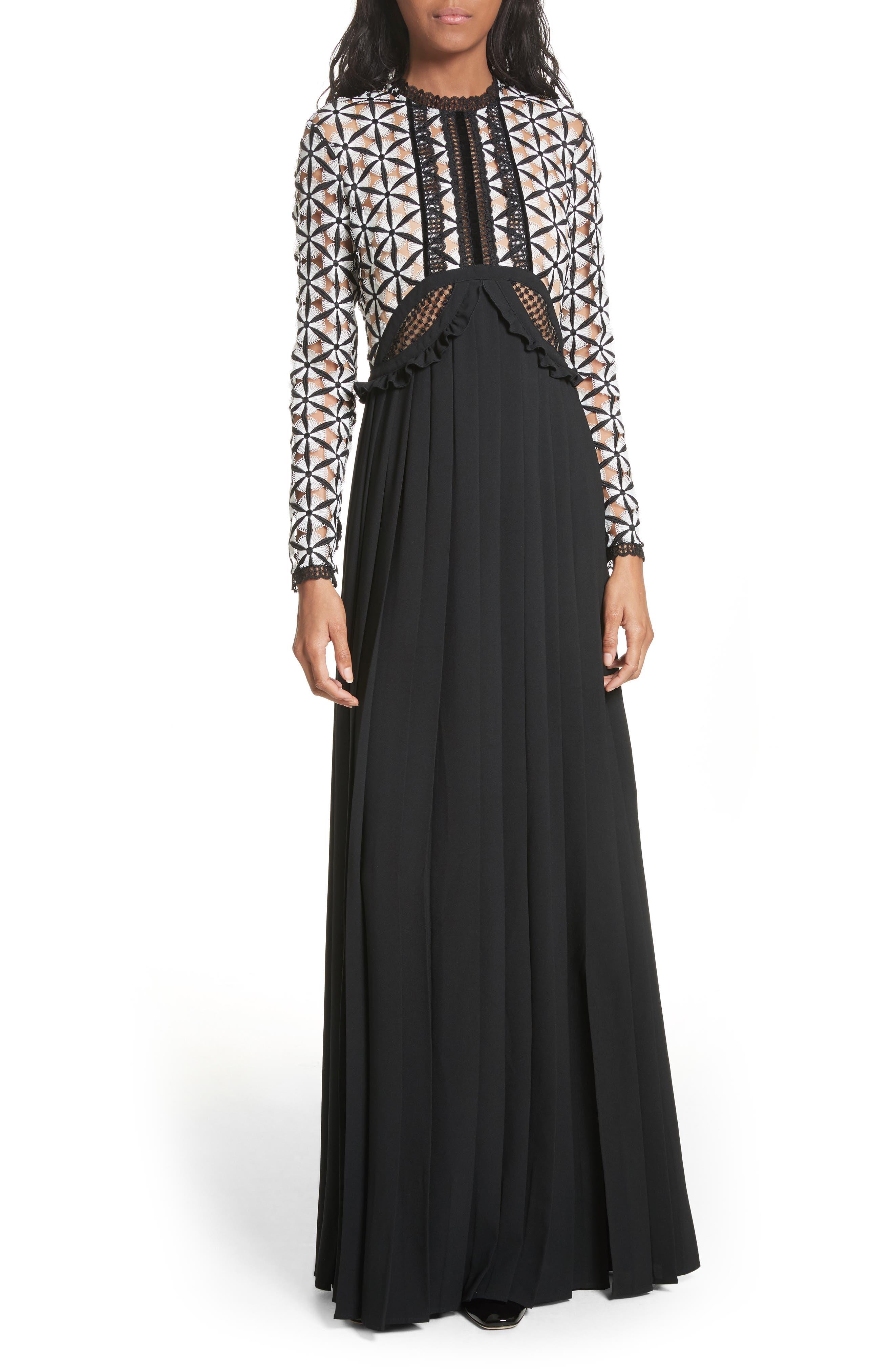 Guipure Lace Maxi Dress,                             Main thumbnail 1, color,
