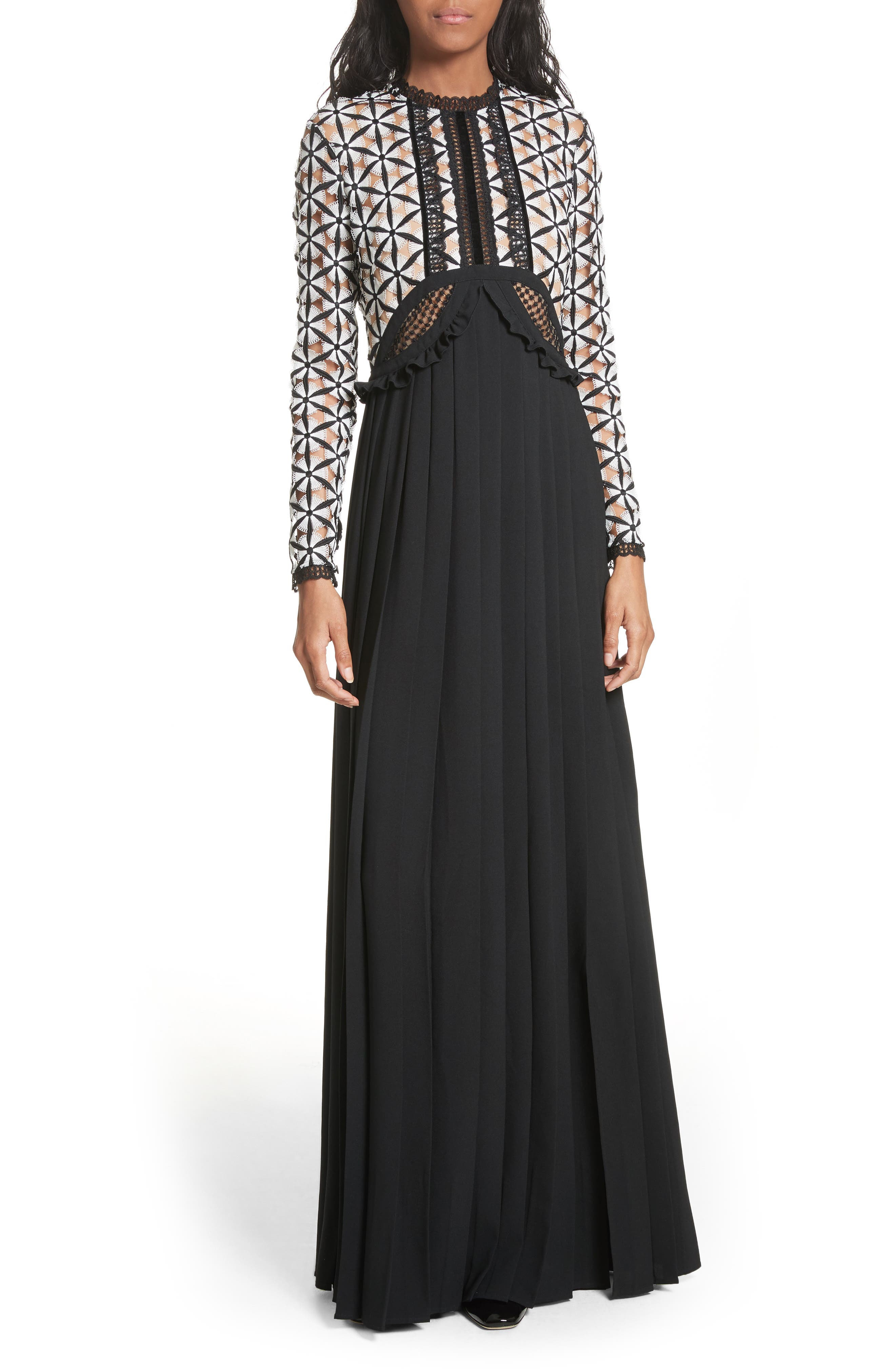 Guipure Lace Maxi Dress,                         Main,                         color,