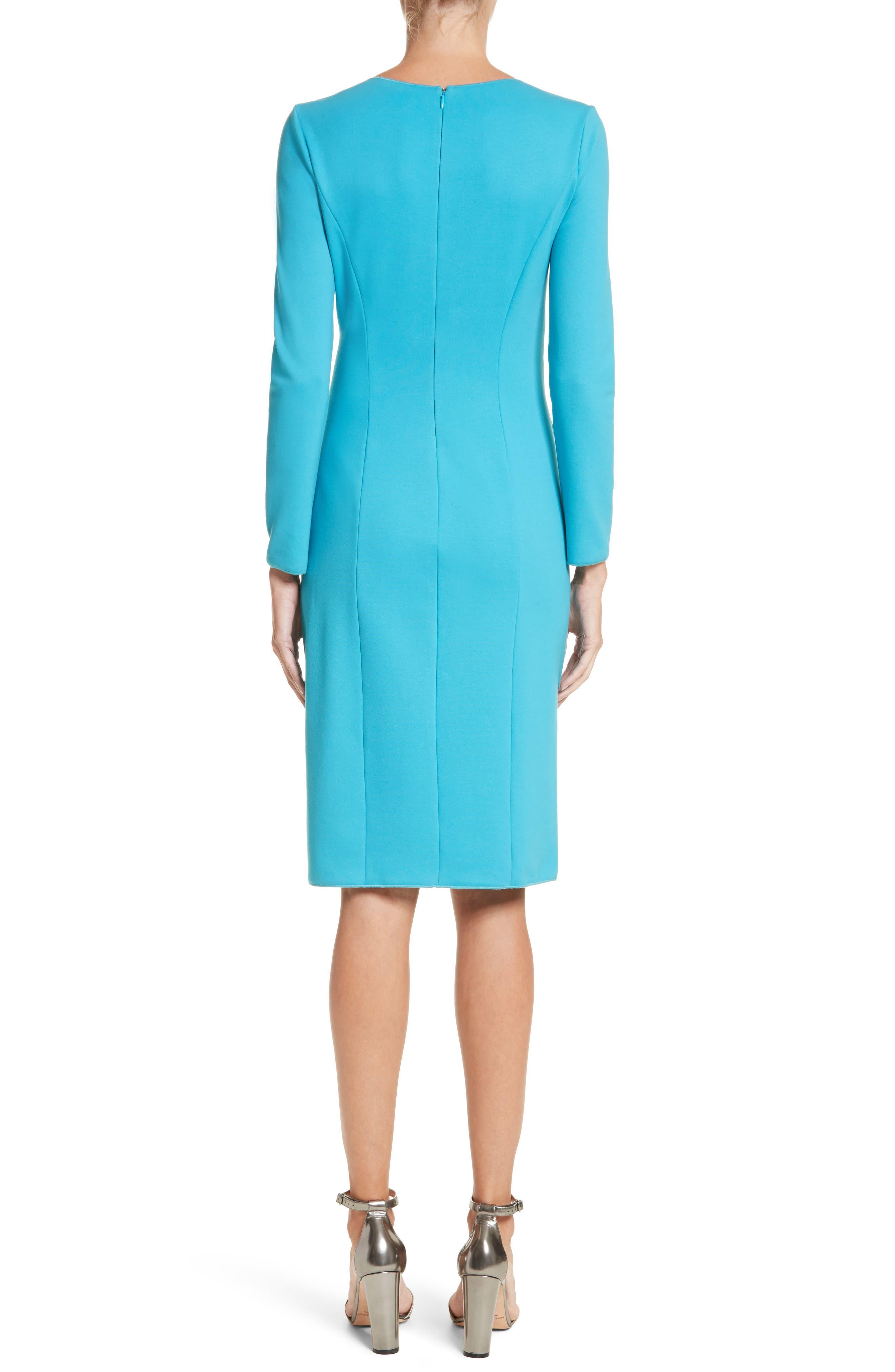Faux Wrap Side Pleat Dress,                             Alternate thumbnail 2, color,                             444