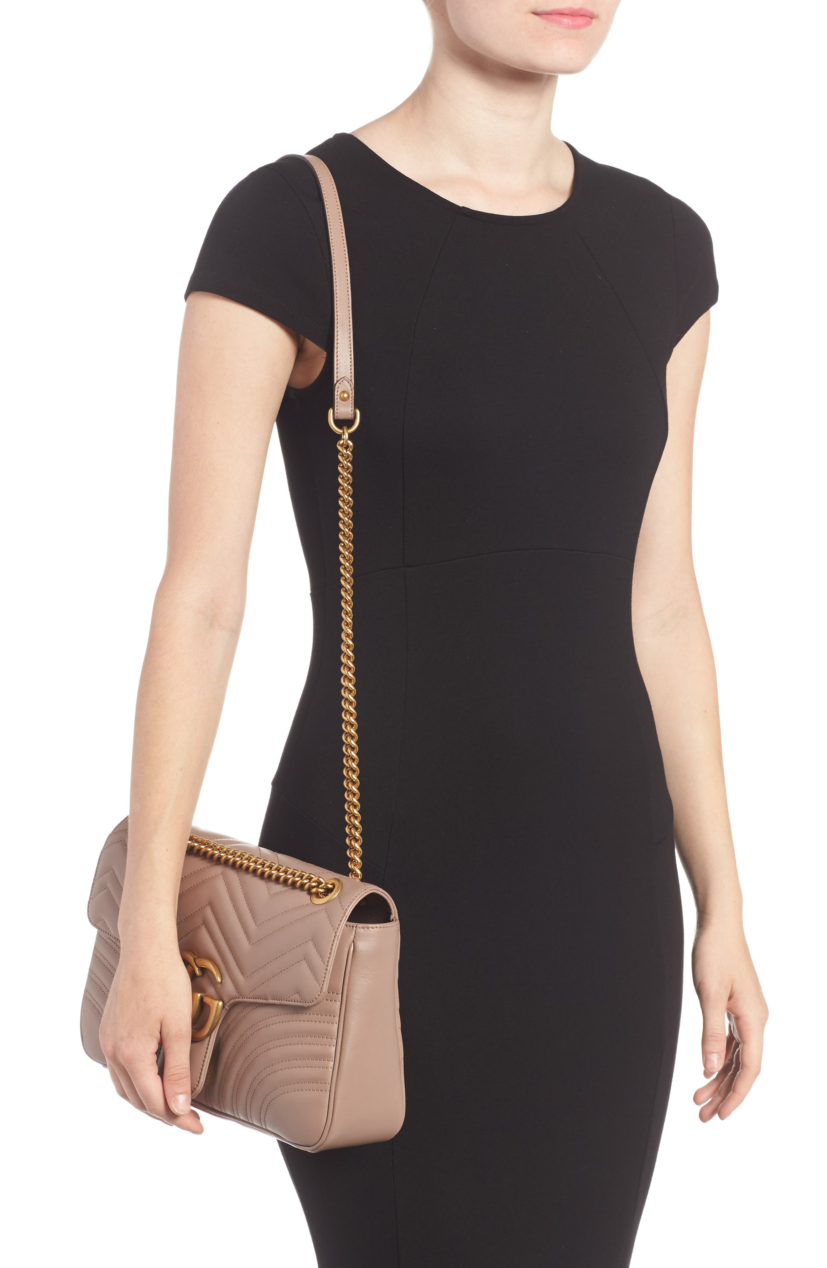 Medium GG Marmont 2.0 Matelassé Leather Shoulder Bag,                             Alternate thumbnail 2, color,                             PORCELAIN ROSE