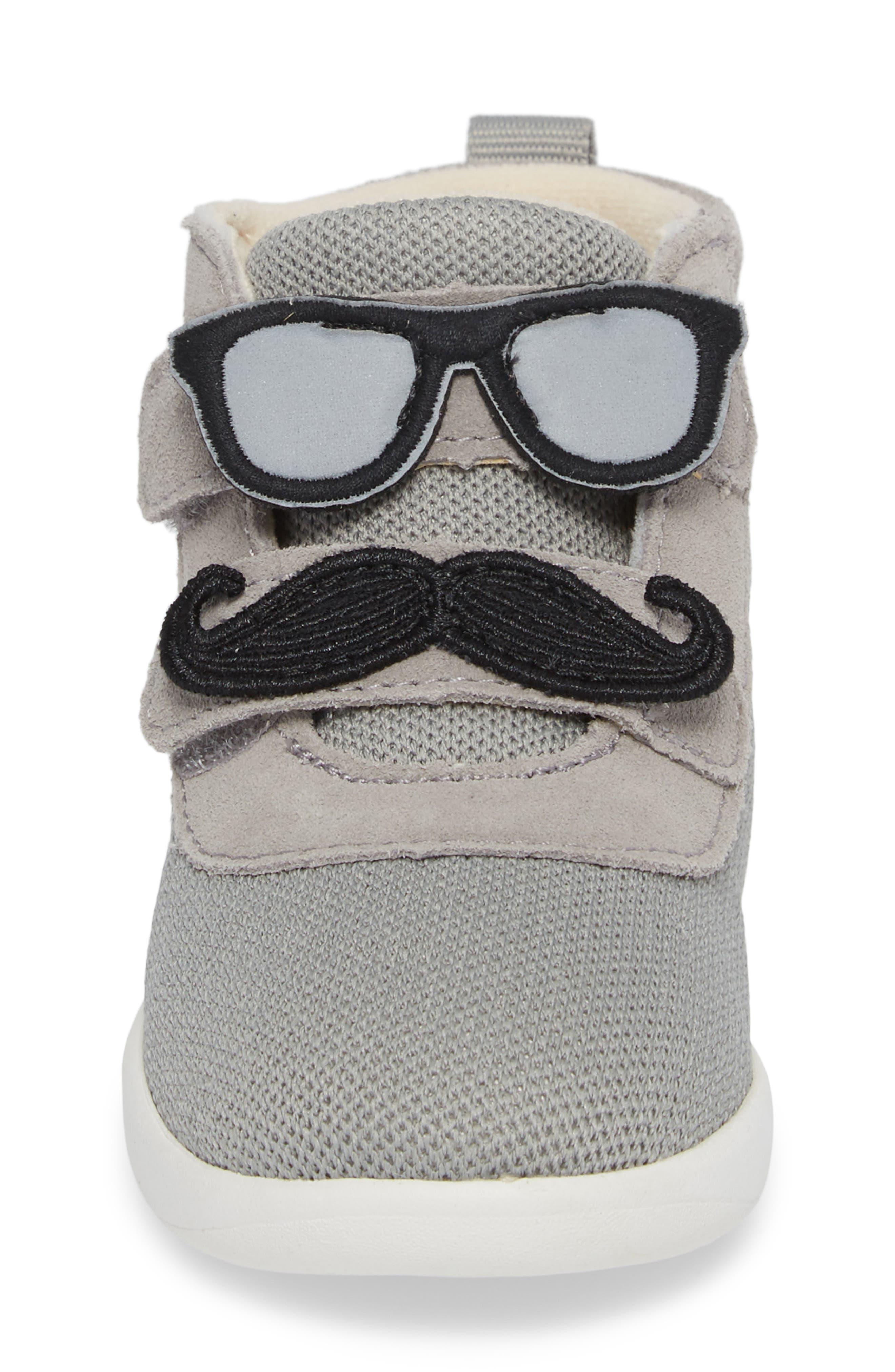 Drex Sunglasses & Mustache Appliqué Sneaker,                             Alternate thumbnail 4, color,                             024