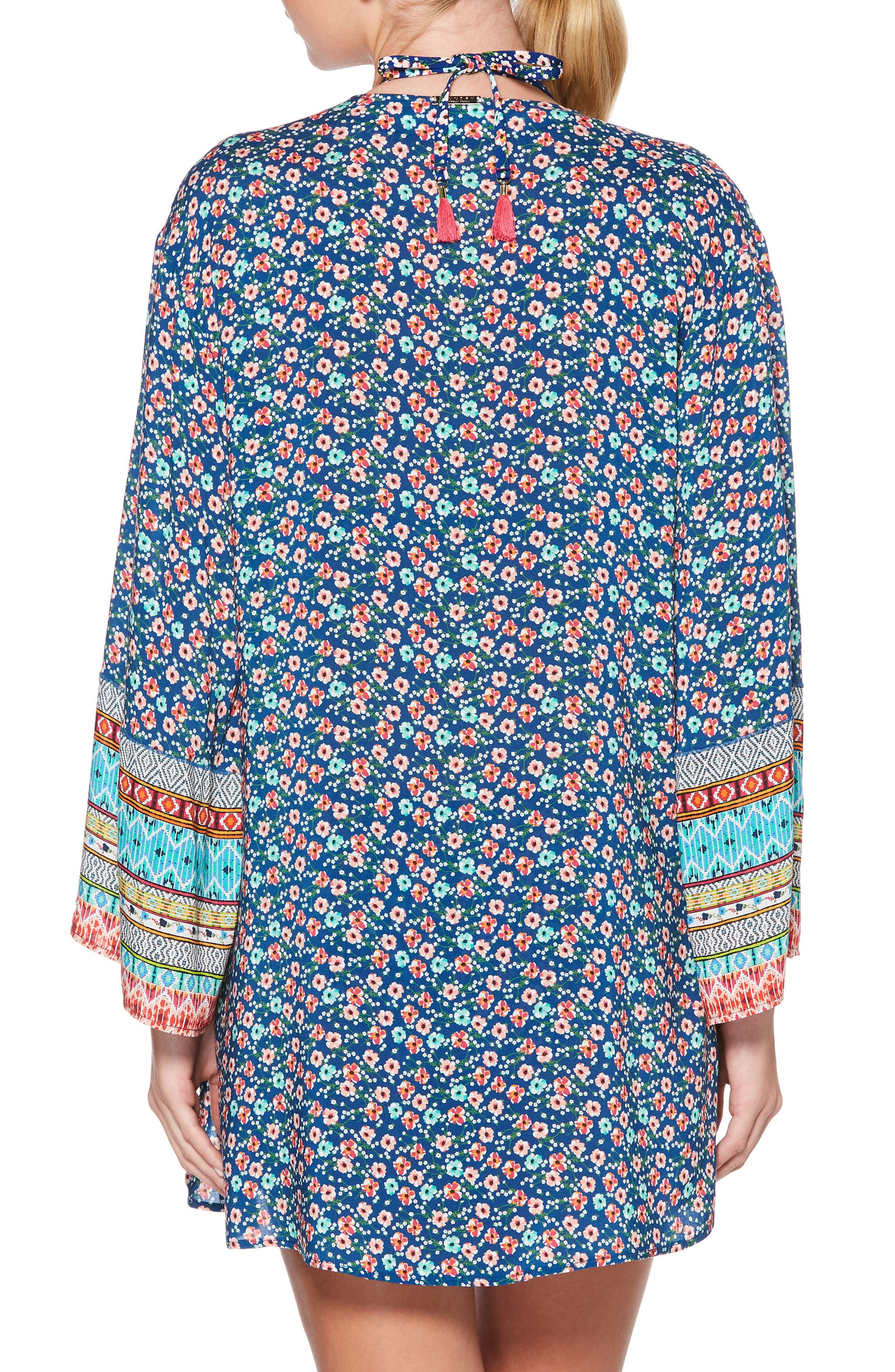 Patchwork Floral Cover-Up Kimono,                             Alternate thumbnail 2, color,                             406