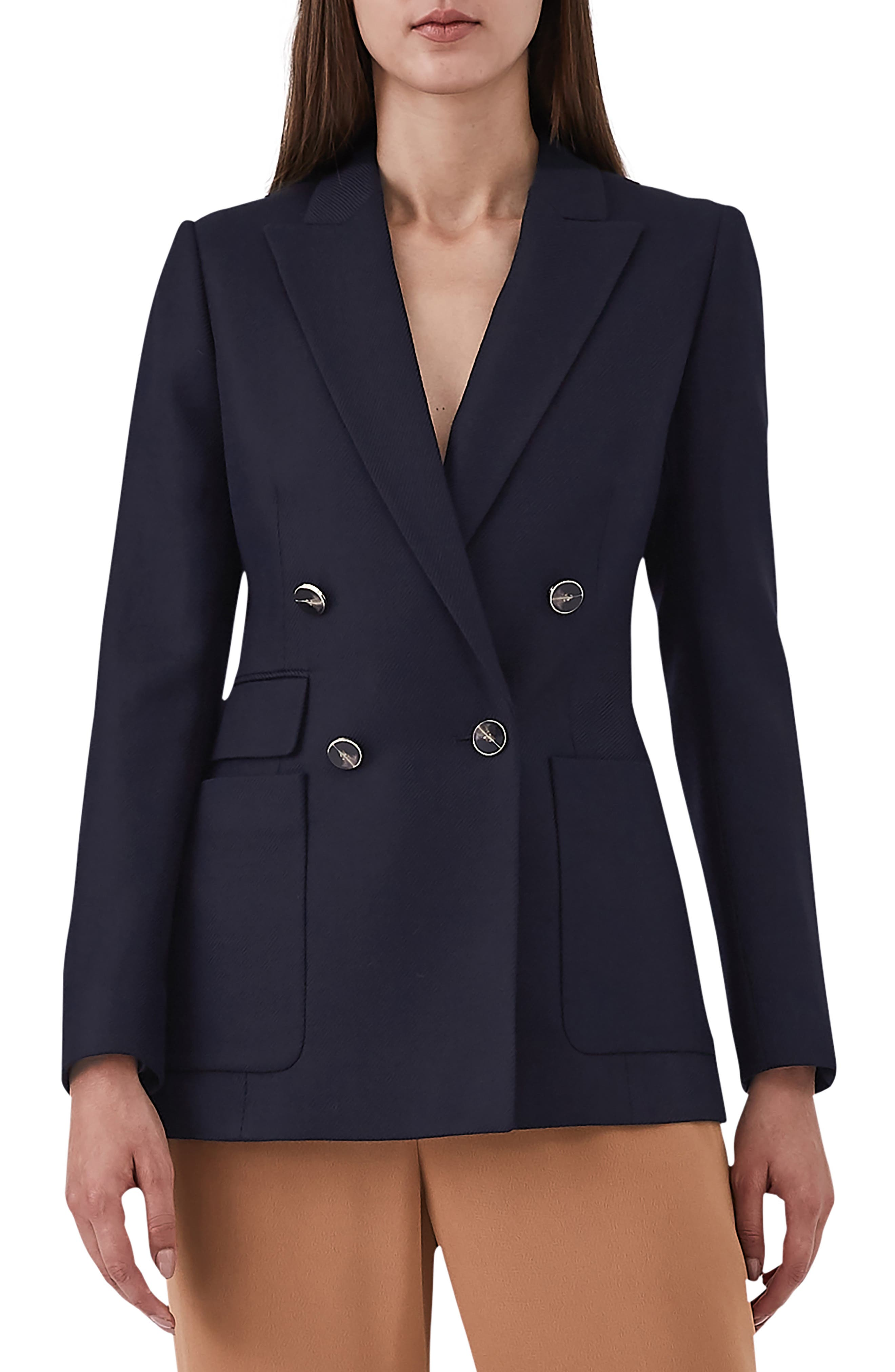 Tate Double Breasted Jacket,                         Main,                         color, NAVY