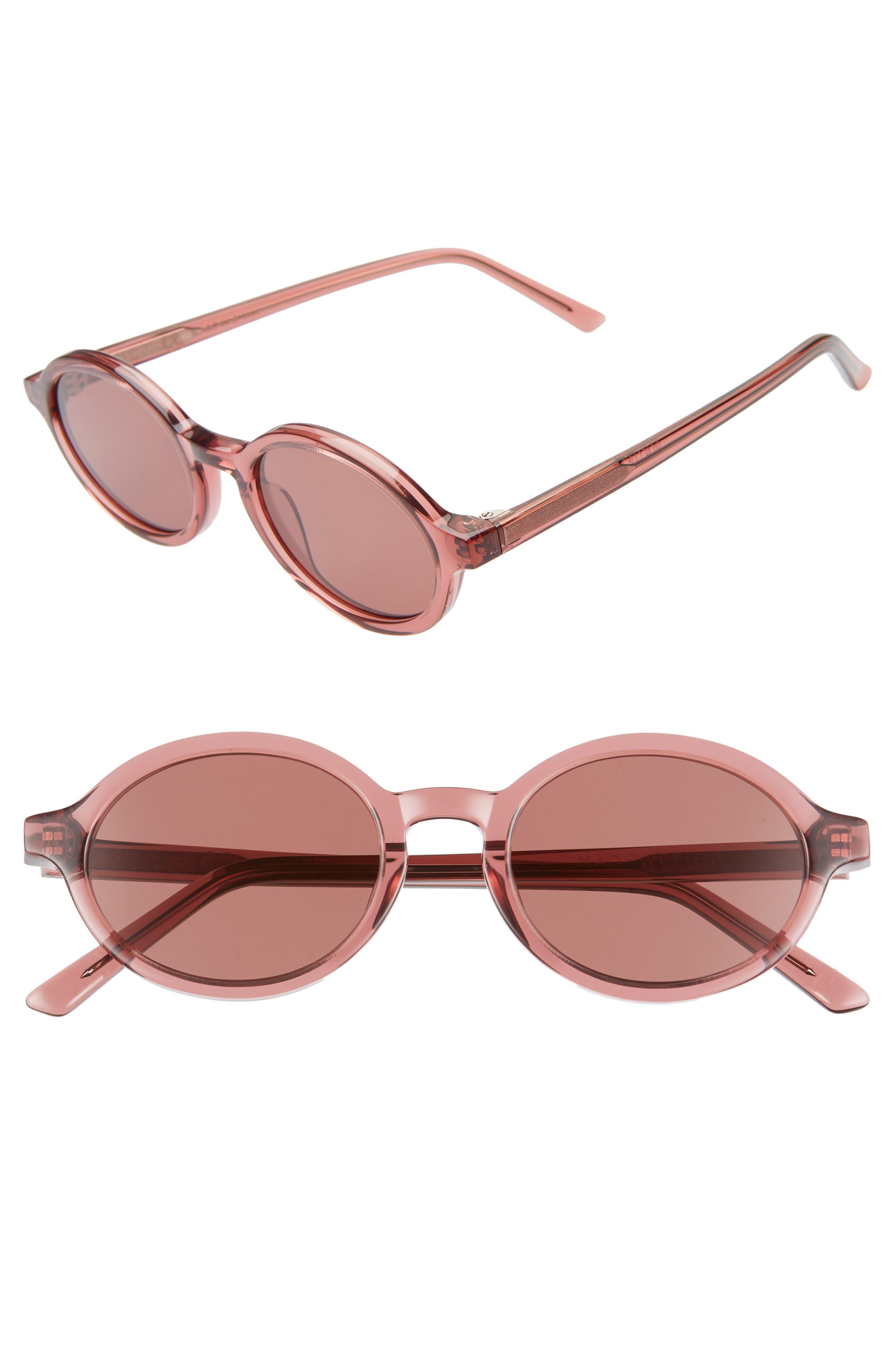 Madewell Callahan 50Mm Oval Sunglasses - Cabernet Glass