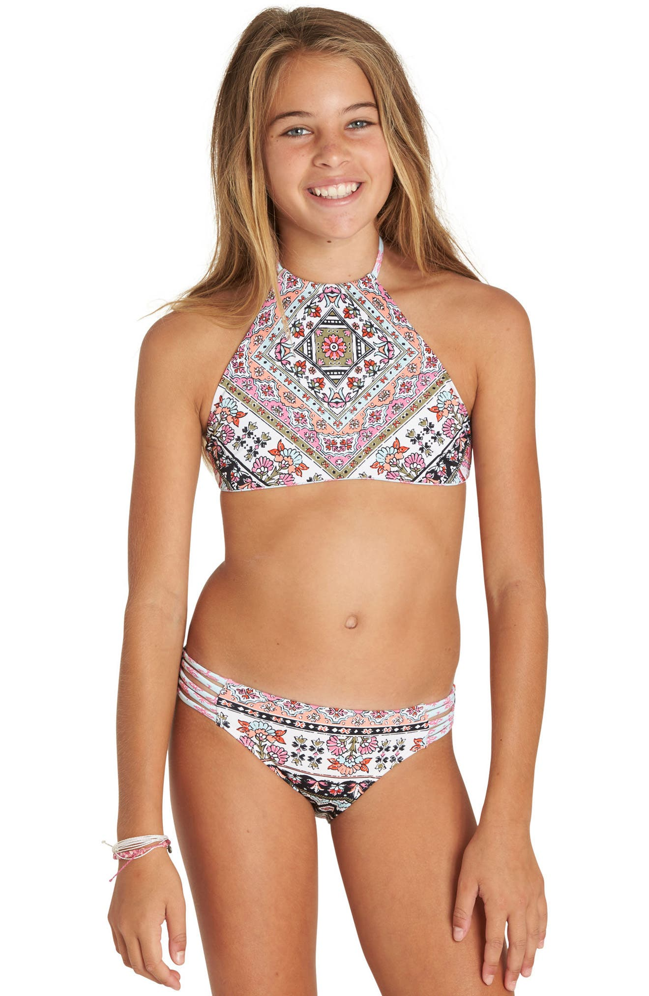 Moon Tribe Two-Piece Halter Swimsuit,                             Alternate thumbnail 2, color,                             650