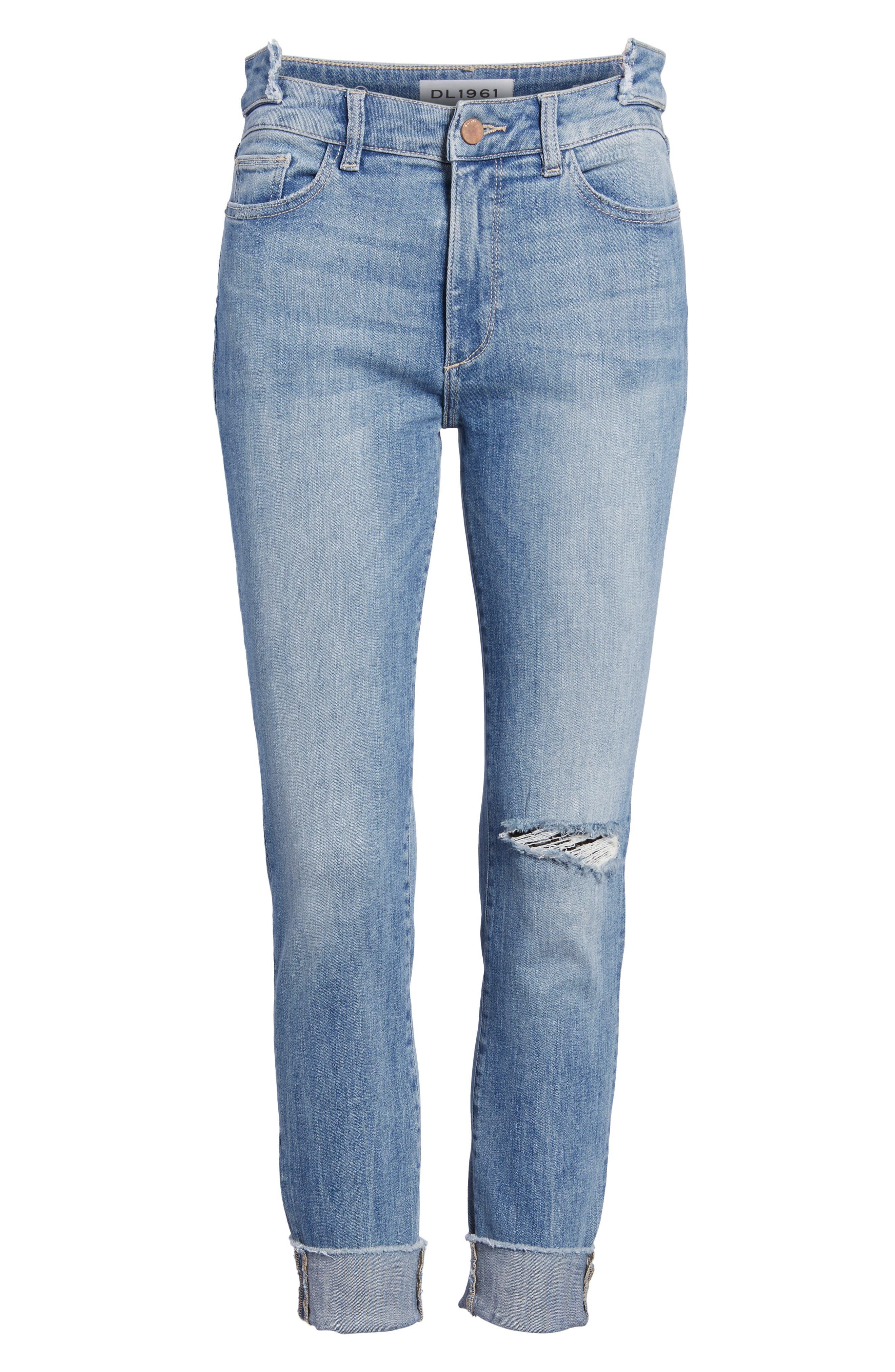 Farrow Instaslim High Waist Ankle Skinny Jeans,                             Alternate thumbnail 7, color,                             429
