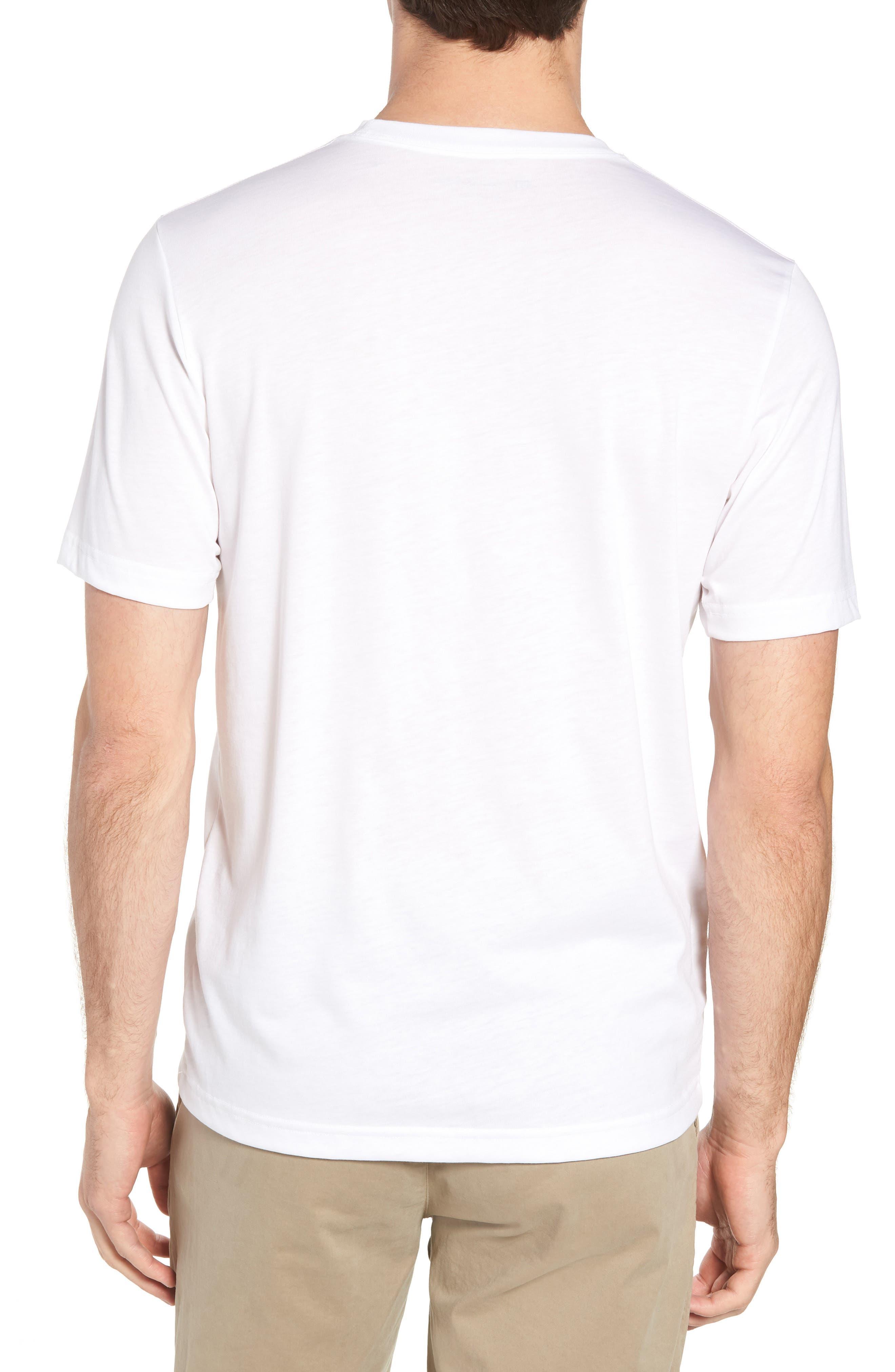 Chocolate Barrels Crewneck T-Shirt,                             Alternate thumbnail 2, color,                             WHITE