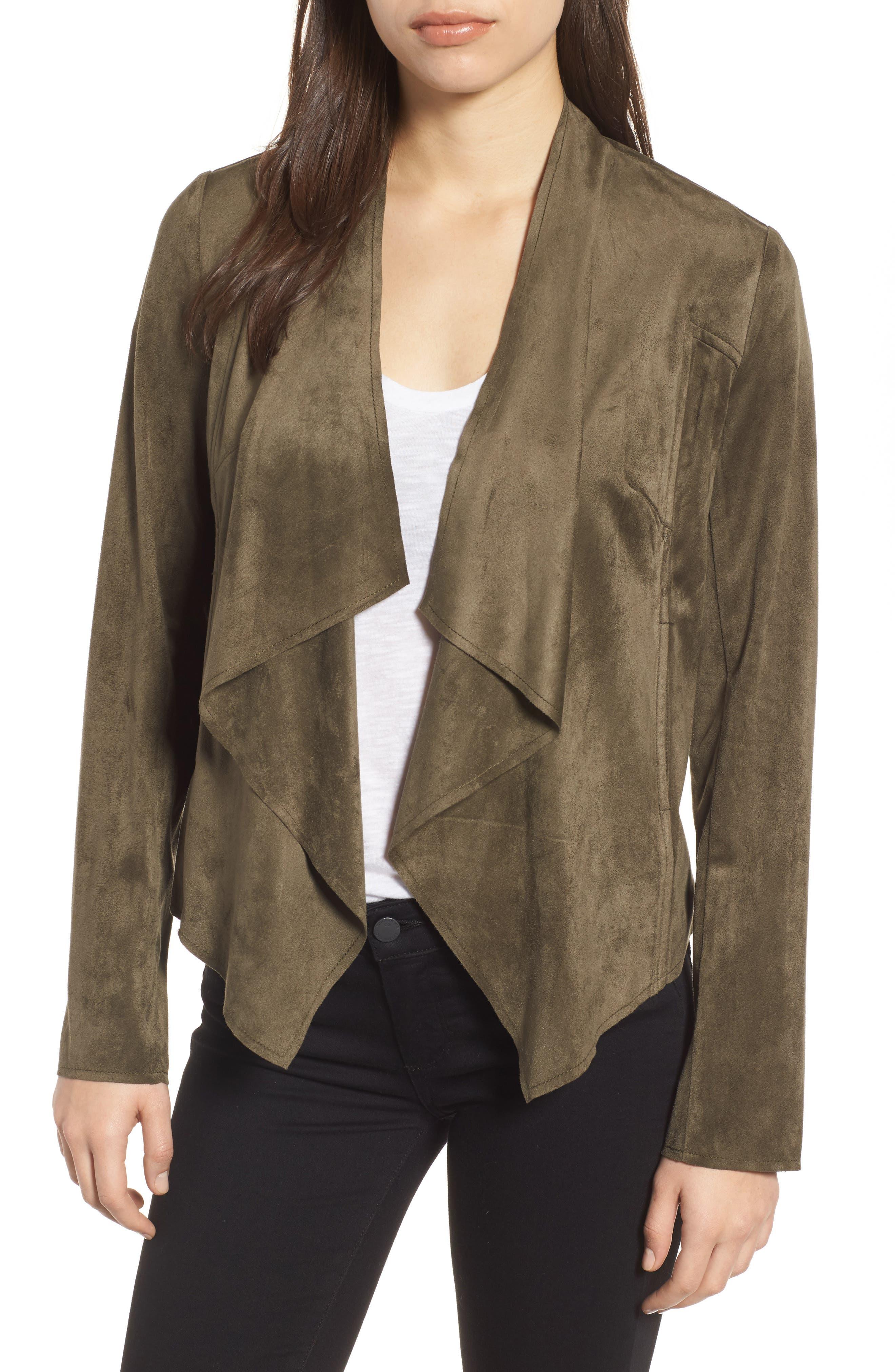 Tayanita Faux Suede Jacket,                             Main thumbnail 4, color,