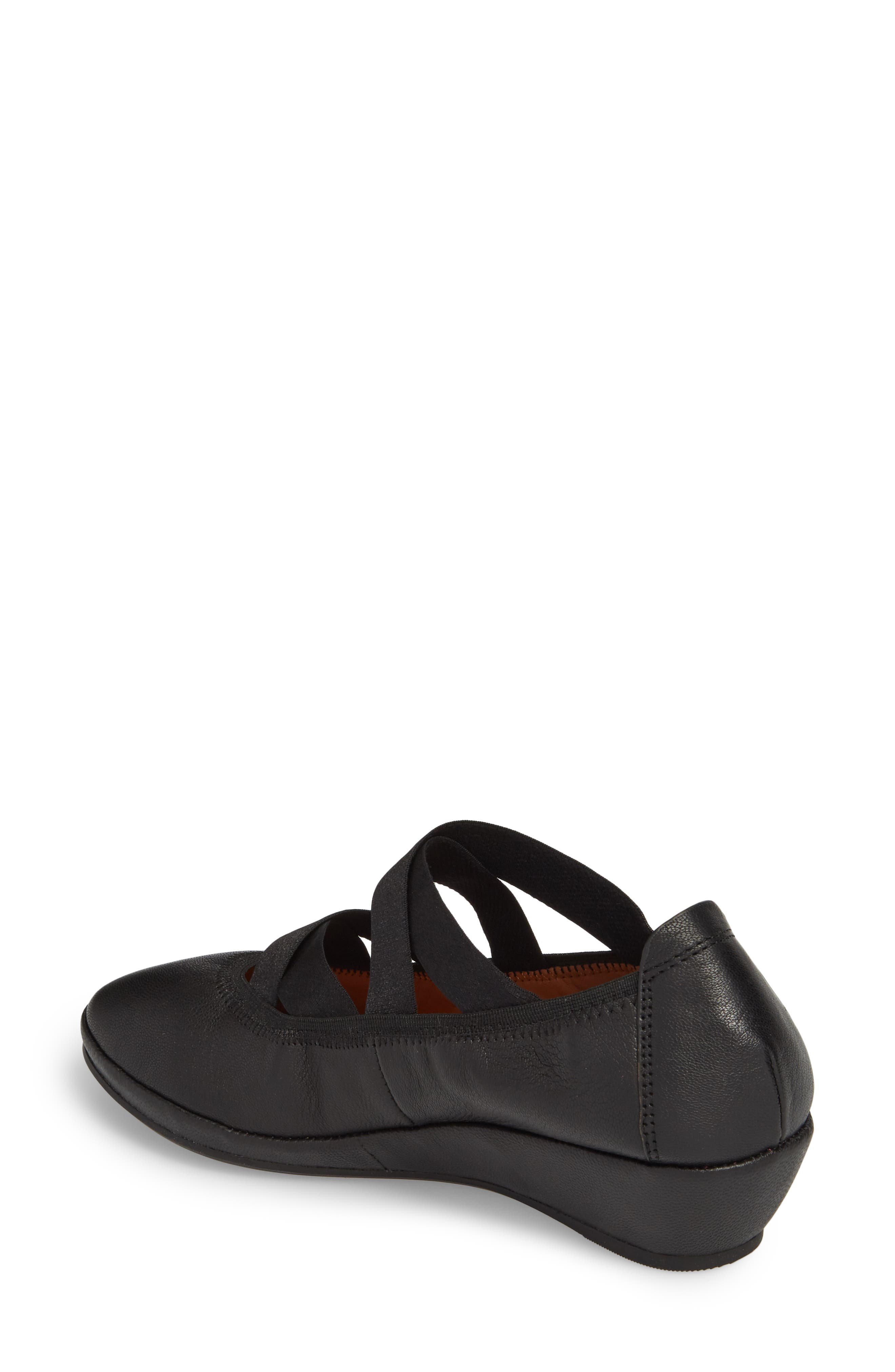 by Kenneth Cole Natalie Ballet Wedge,                             Alternate thumbnail 2, color,                             BLACK LEATHER