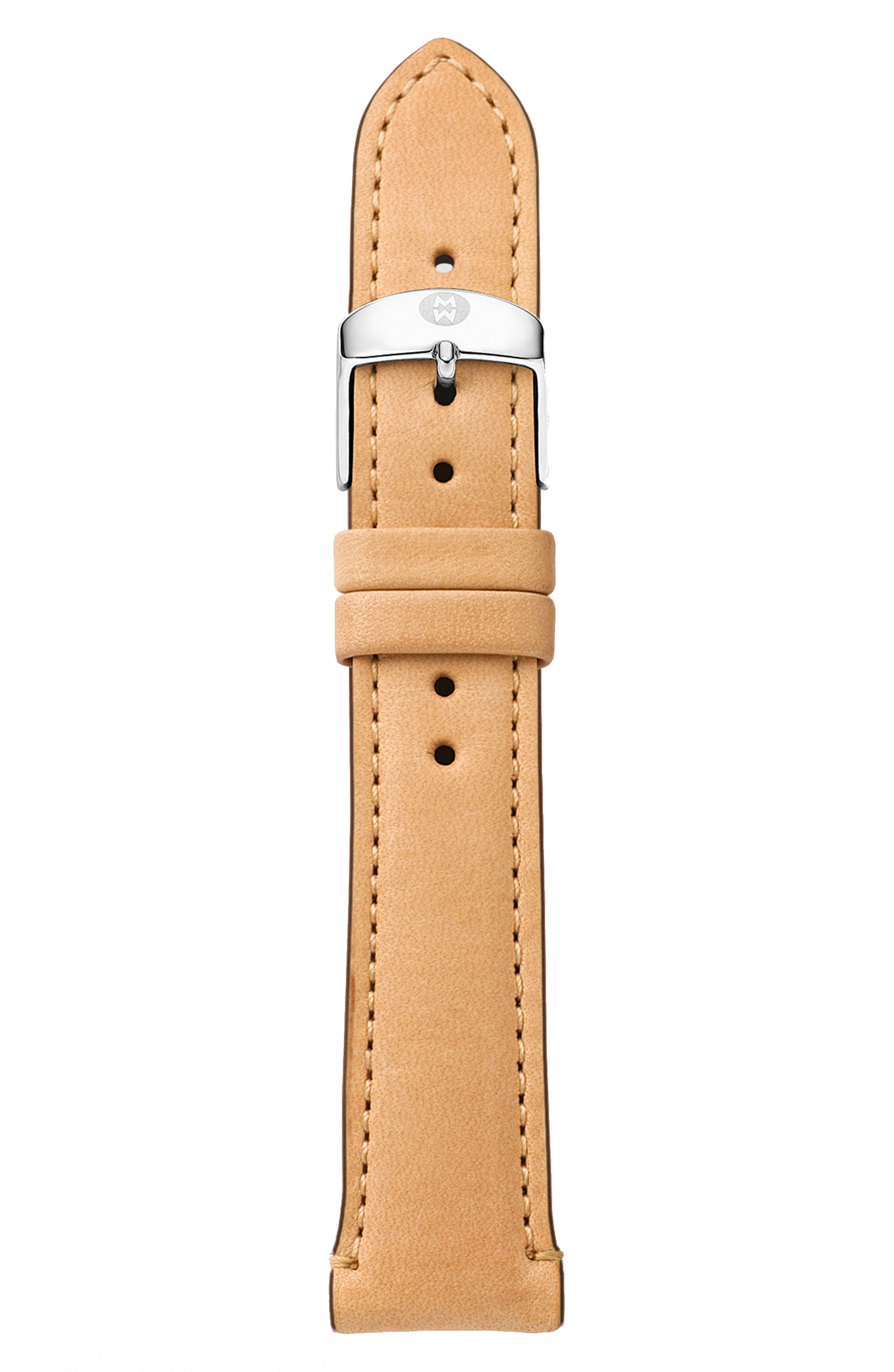 16mm Leather Watch Strap,                             Alternate thumbnail 2, color,                             TAN