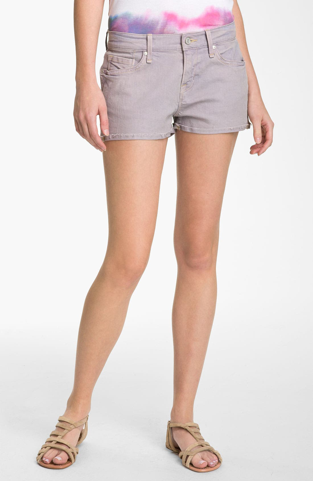 Relaxed Denim Shorts, Main, color, 500