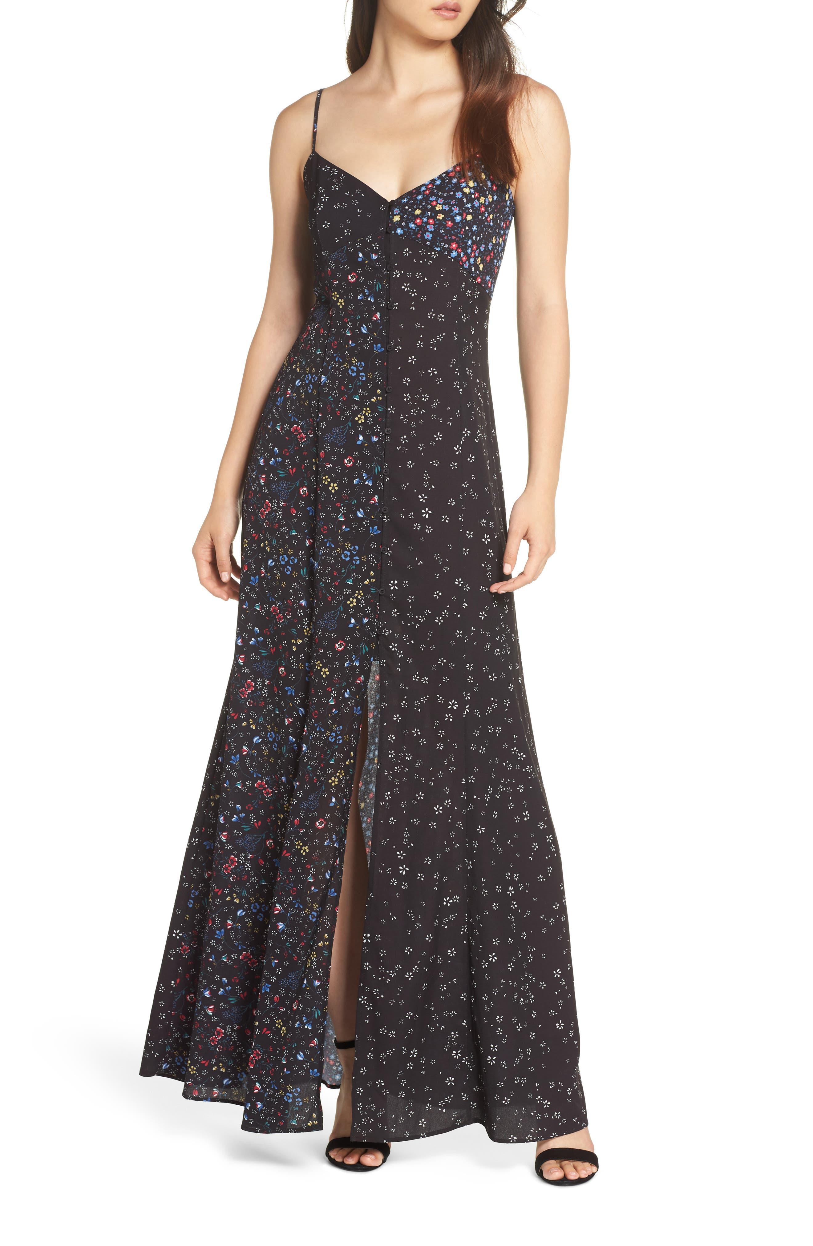 FRENCH CONNECTION Aubine Fluid Slip Dress, Main, color, 002