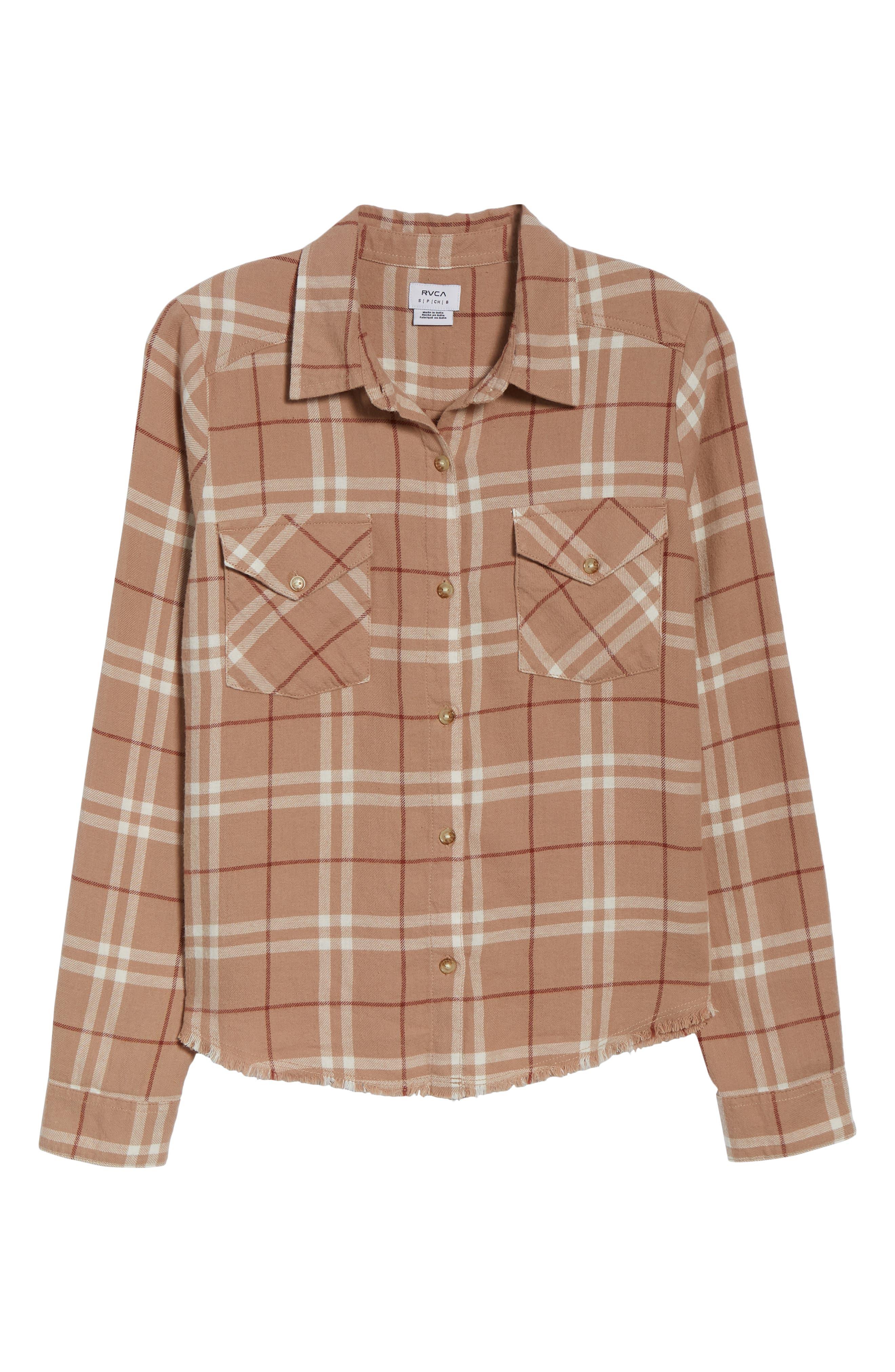In a Haze Plaid Cotton Shirt,                             Alternate thumbnail 6, color,                             020