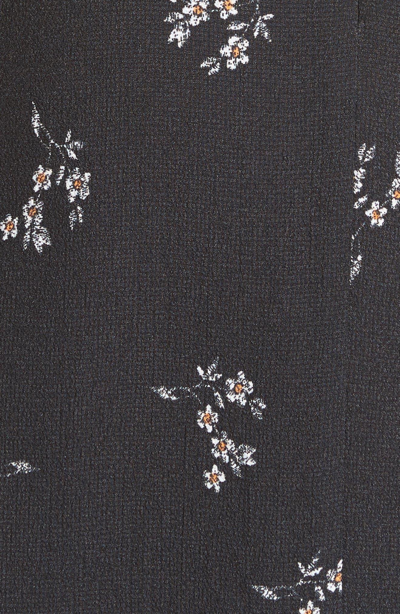 Lila Floral A-Line Dress,                             Alternate thumbnail 5, color,                             006