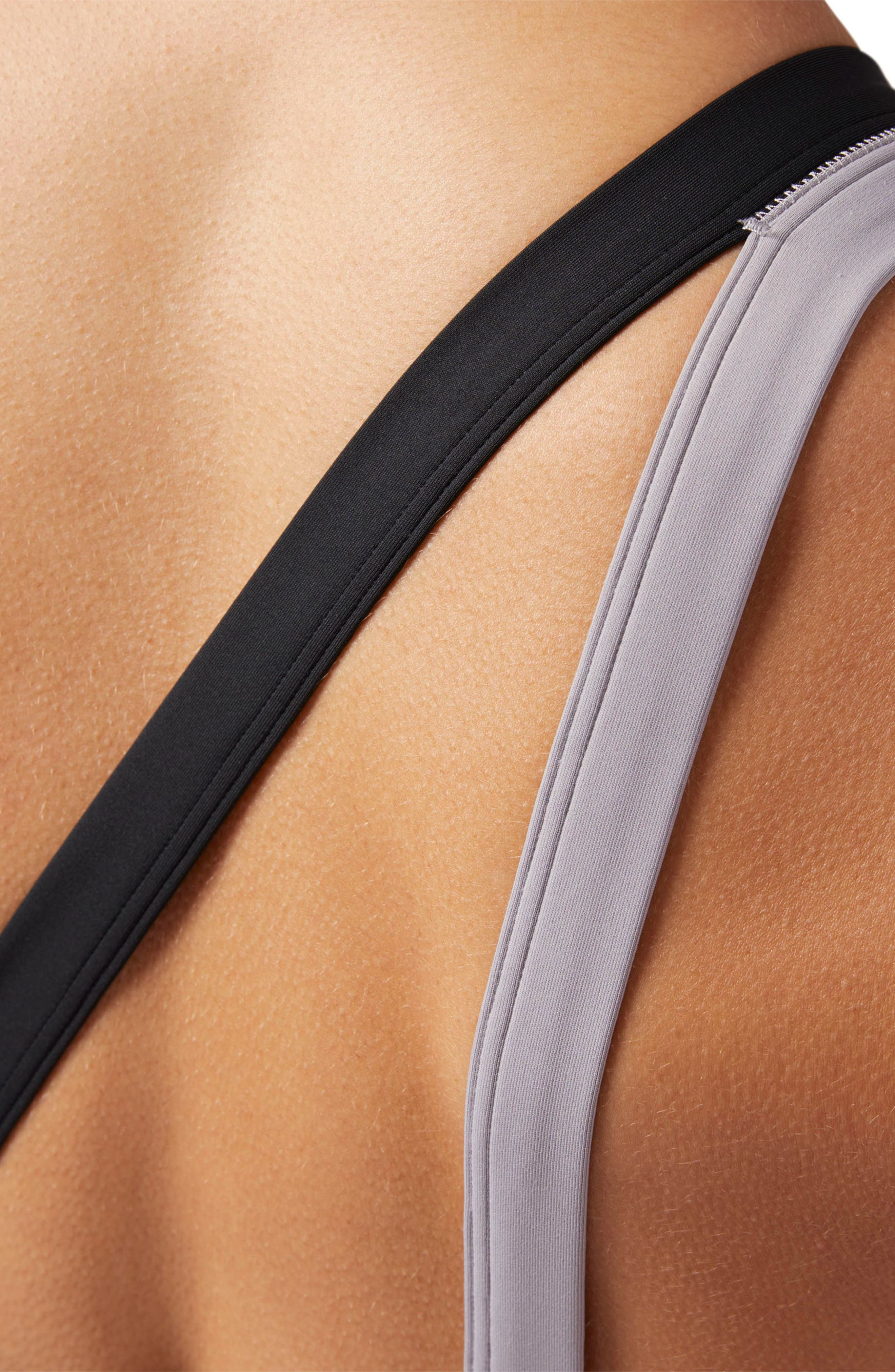 One-Shoulder Sports Bra,                             Alternate thumbnail 4, color,                             SMOKY TAUPE S18-R
