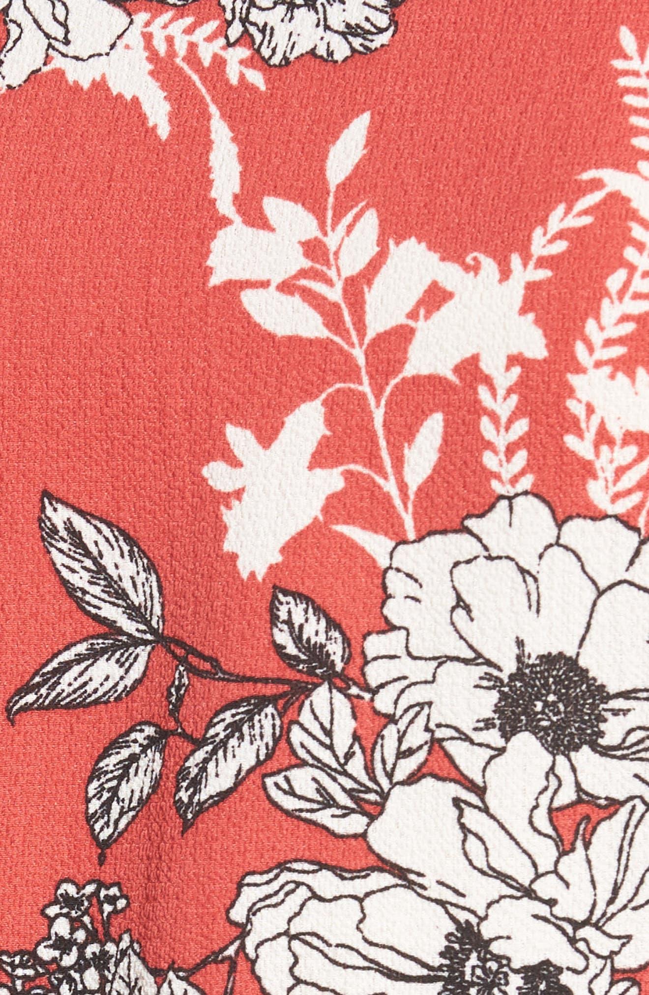 Asymmetrical Tie Front Stretch Crepe Blouse,                             Alternate thumbnail 15, color,