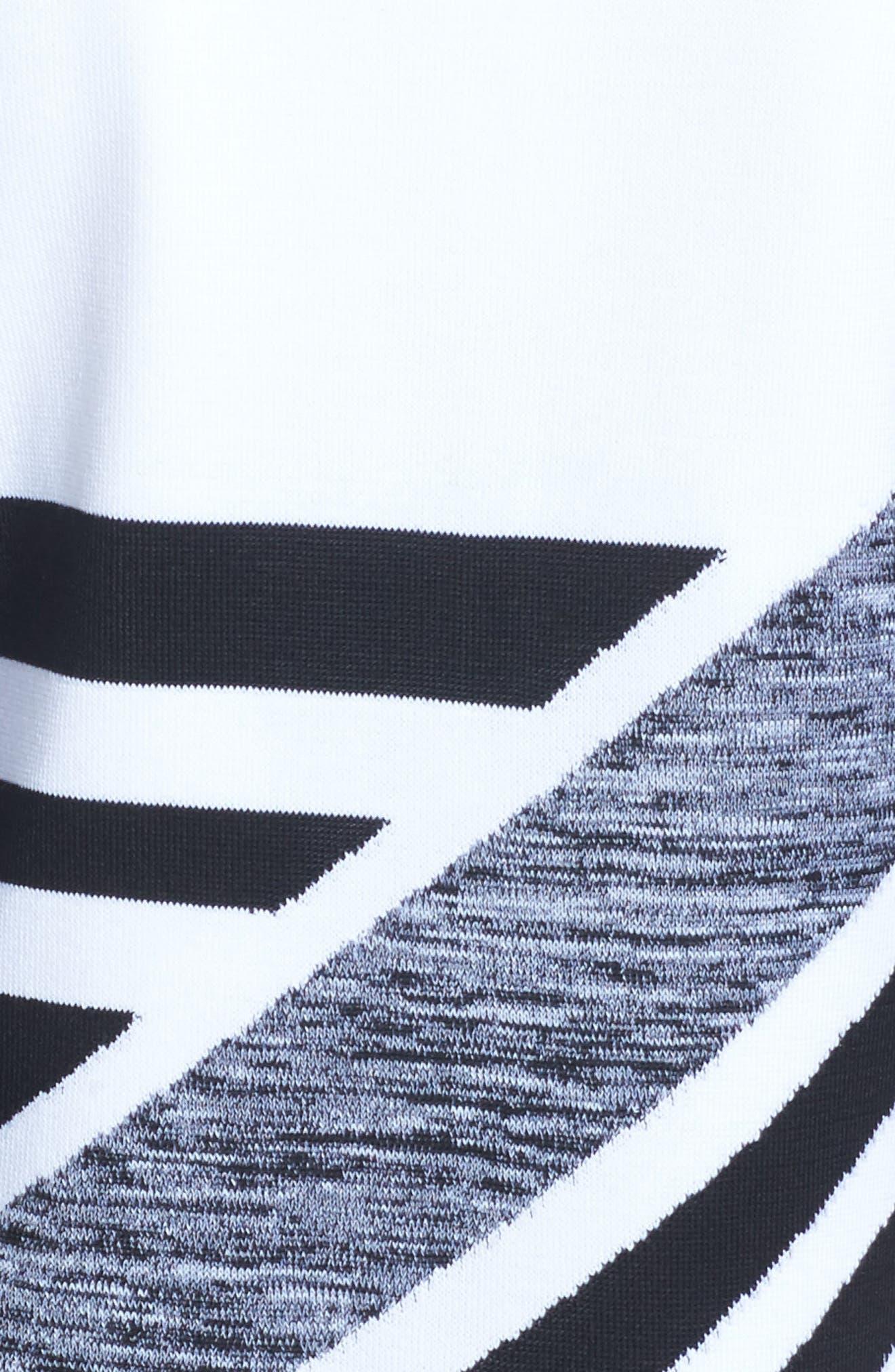 Geometric Knit Jacket,                             Alternate thumbnail 6, color,
