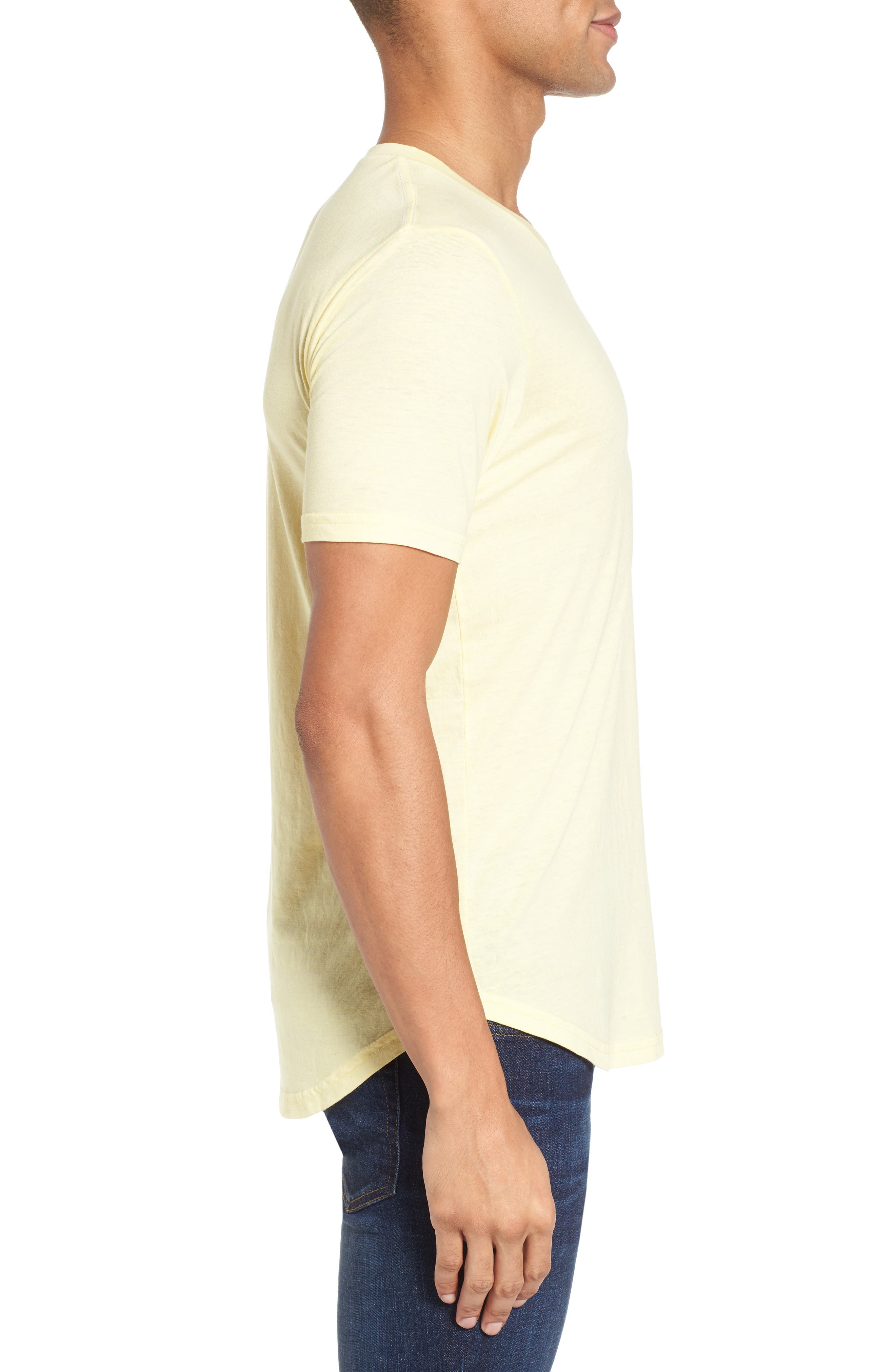 Scallop Triblend V-Neck T-Shirt,                             Alternate thumbnail 60, color,