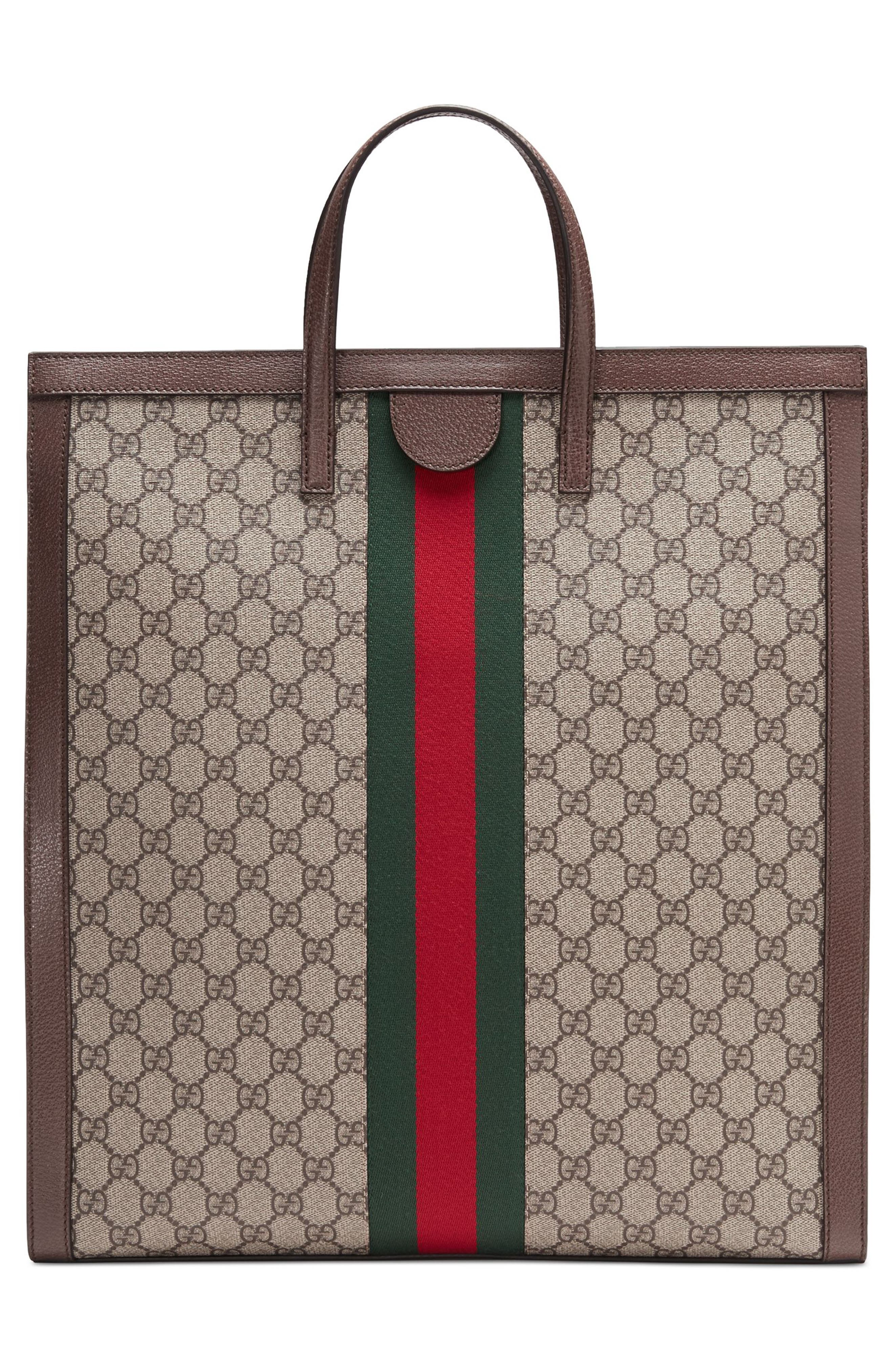 Ophidia GG Supreme Canvas Tote,                             Alternate thumbnail 2, color,