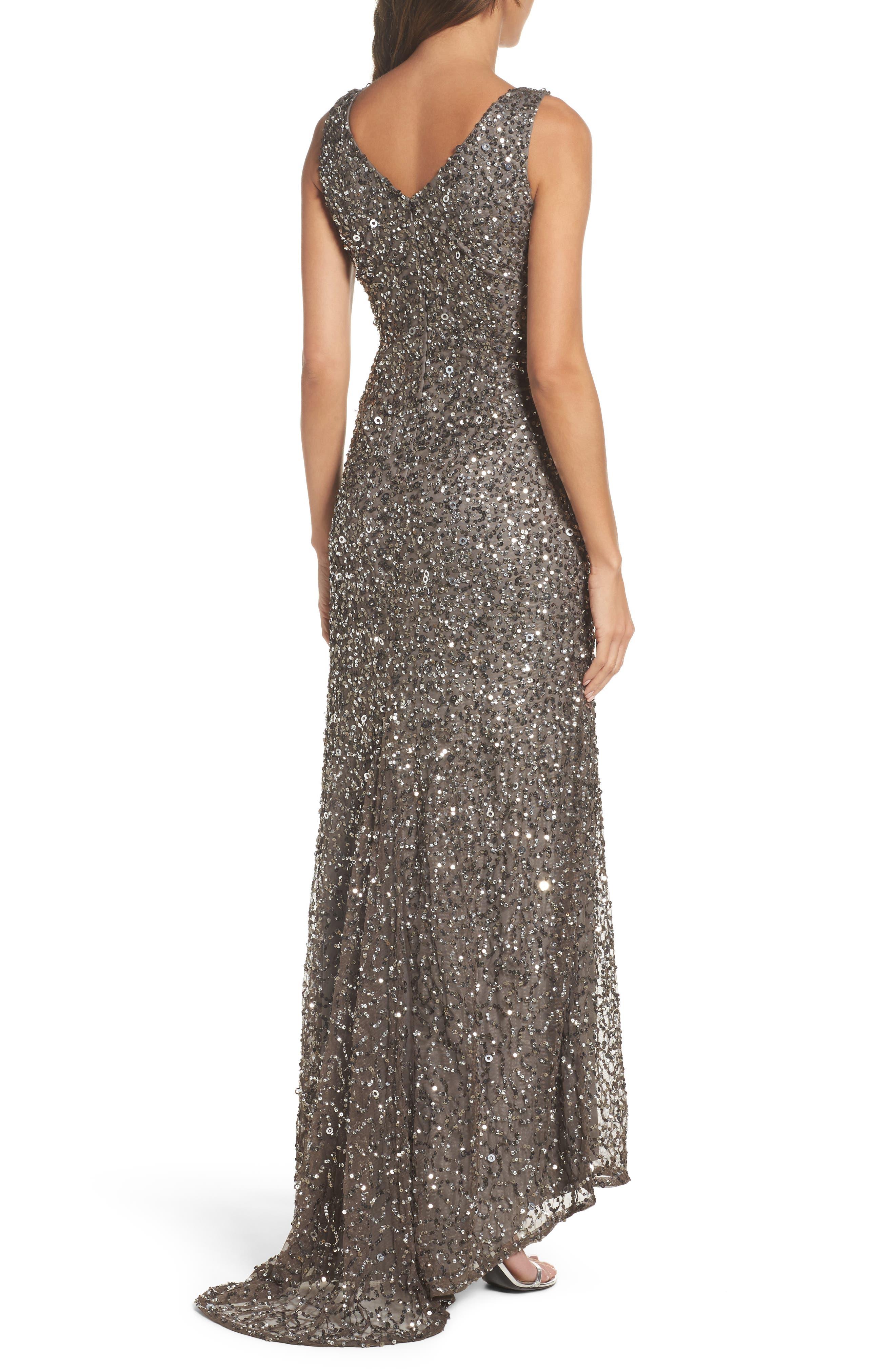 Sequin Gown,                             Alternate thumbnail 2, color,                             020
