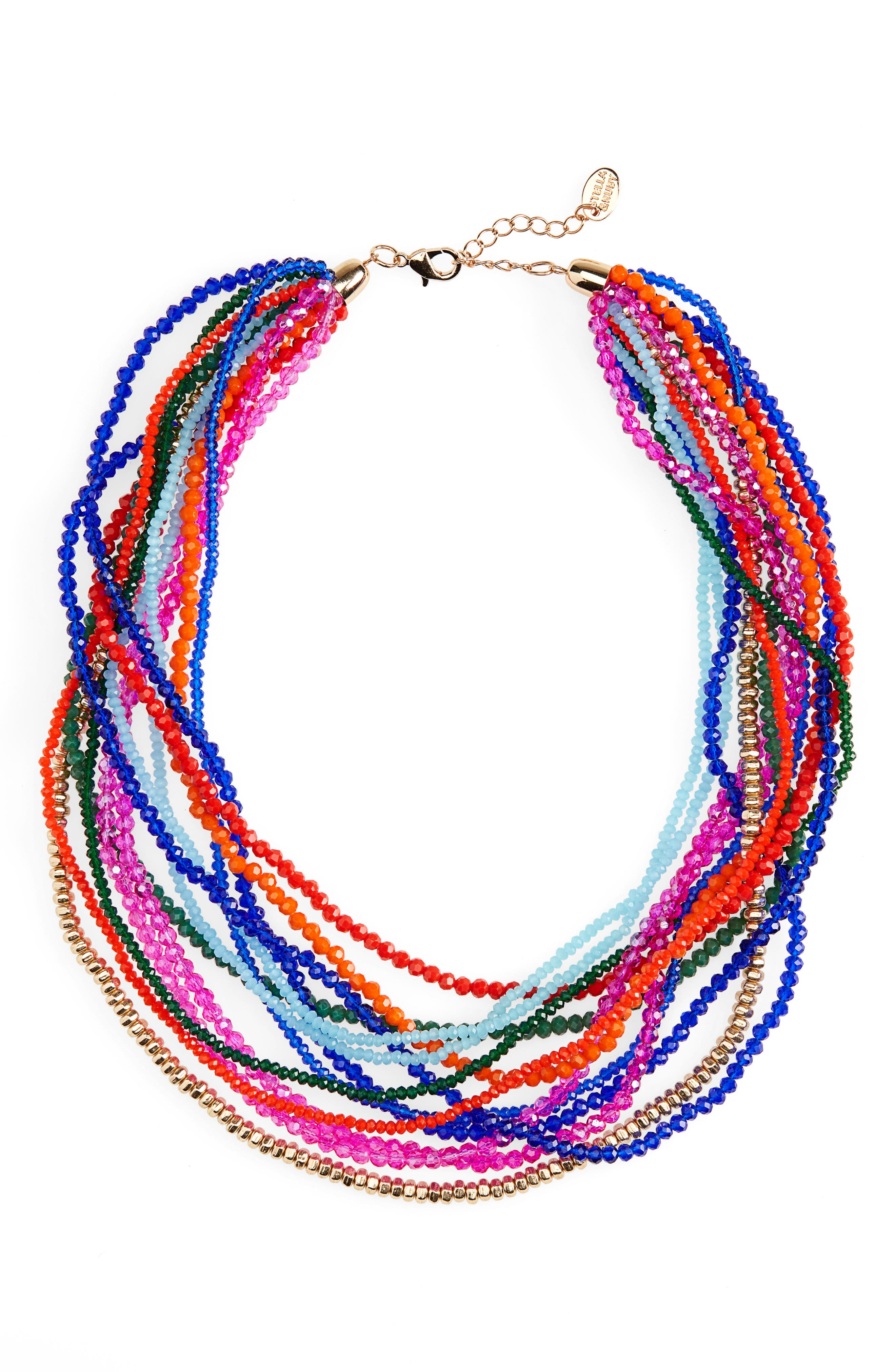STELLA + RUBY Lydia Necklace in Gold/ Multi