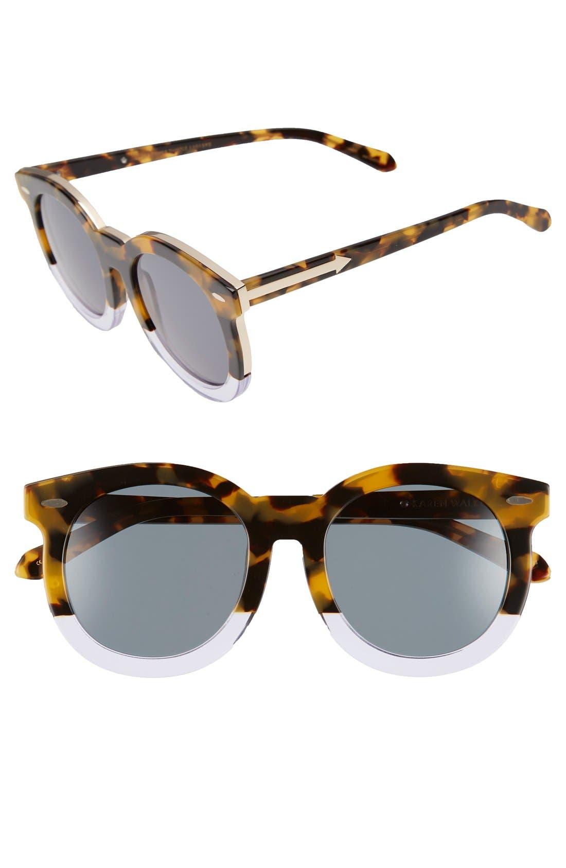'Super Duper Thistle' 52mm Retro Sunglasses,                             Main thumbnail 2, color,