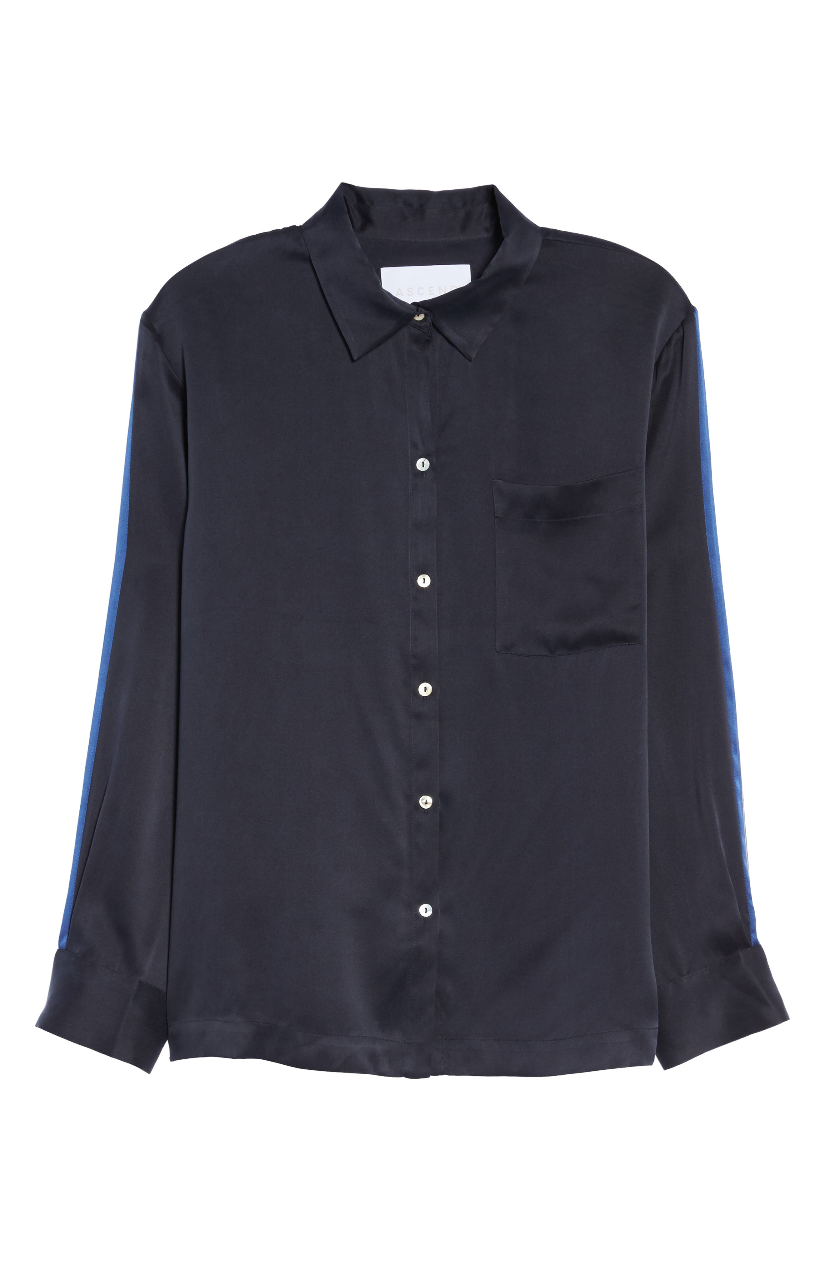 Silk Pajama Top,                             Alternate thumbnail 6, color,                             400